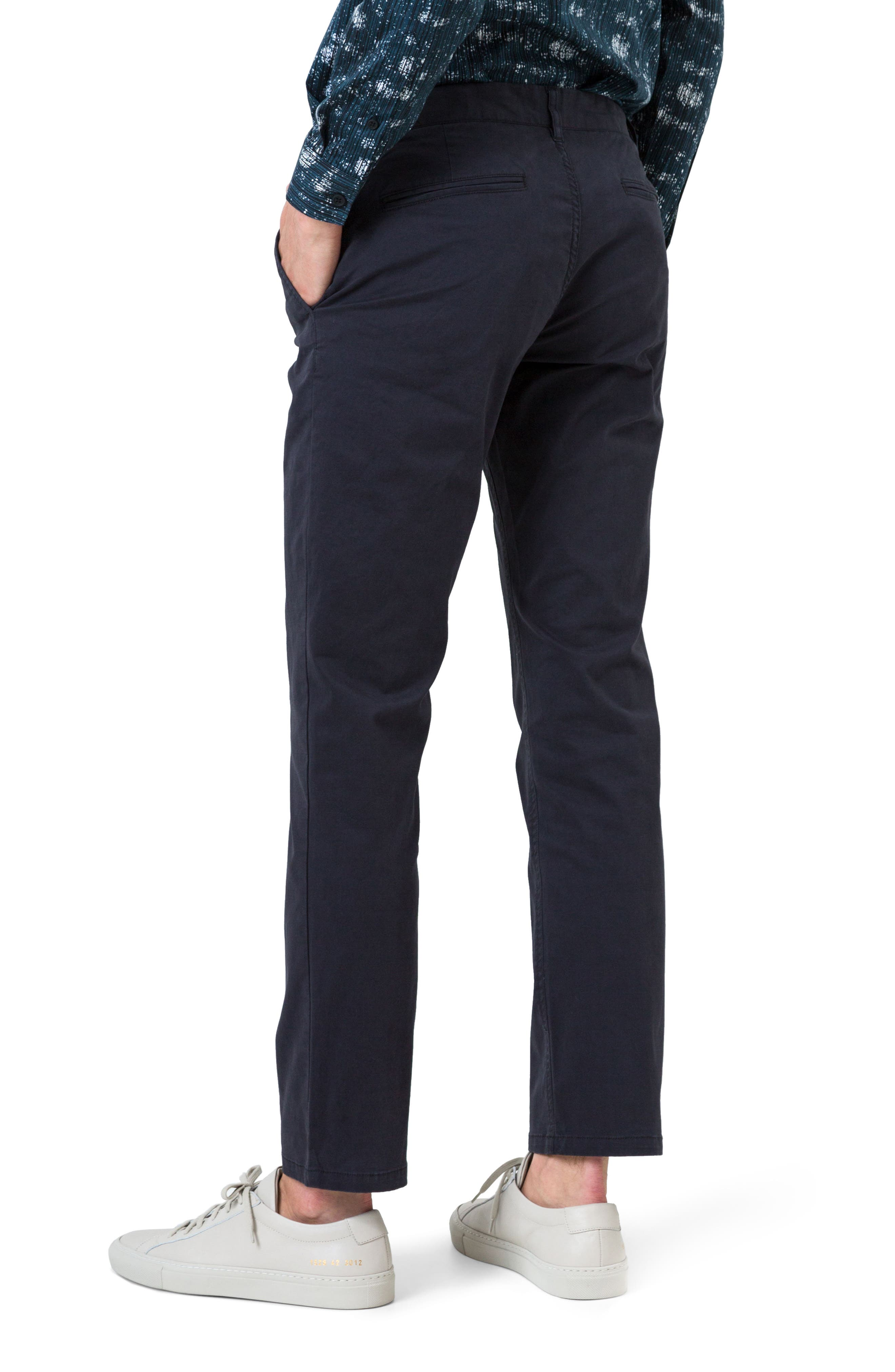 Voyage Slim Fit Chinos,                             Alternate thumbnail 2, color,                             Navy