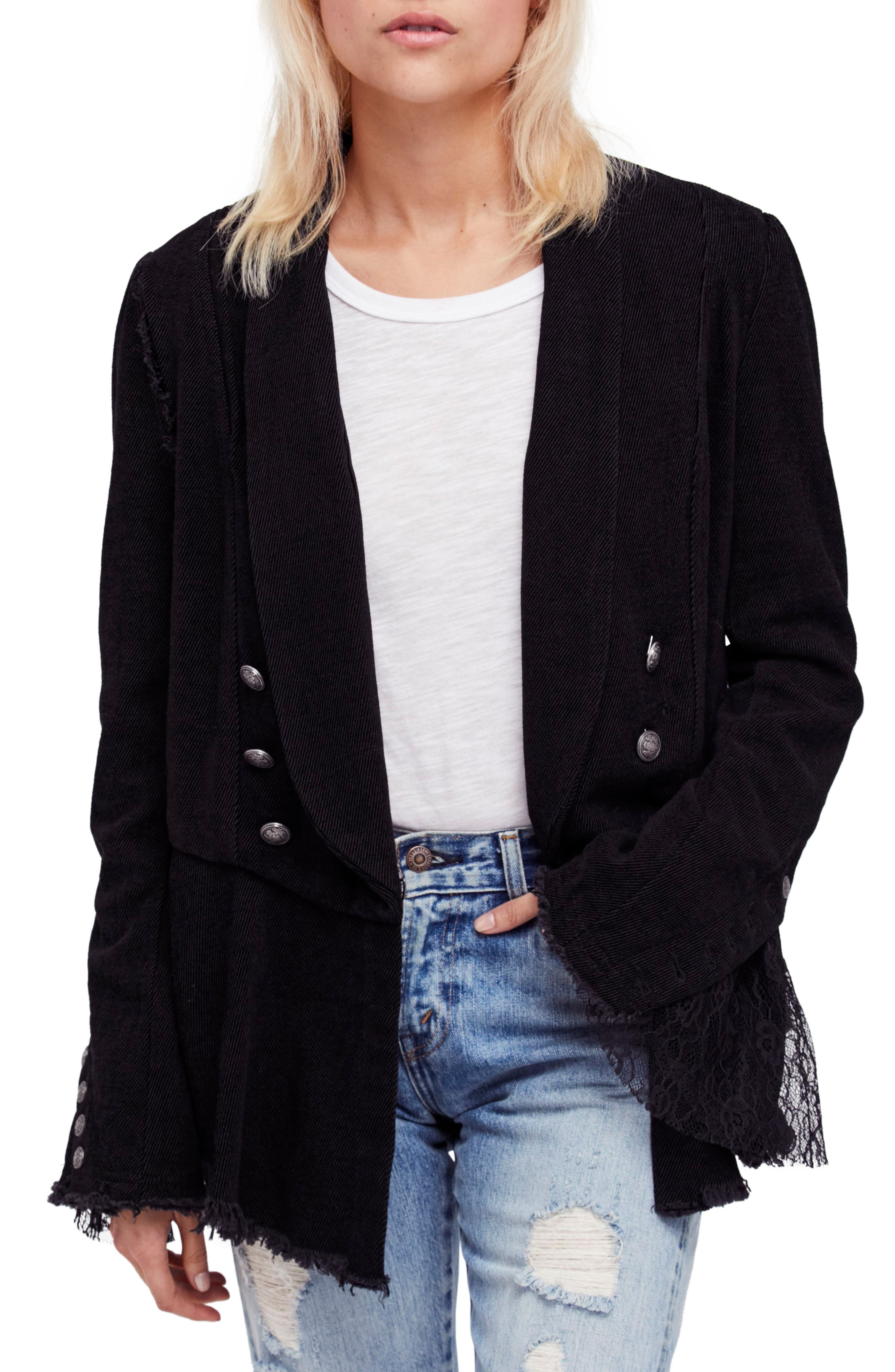 Free People Flare Sleeve Blazer