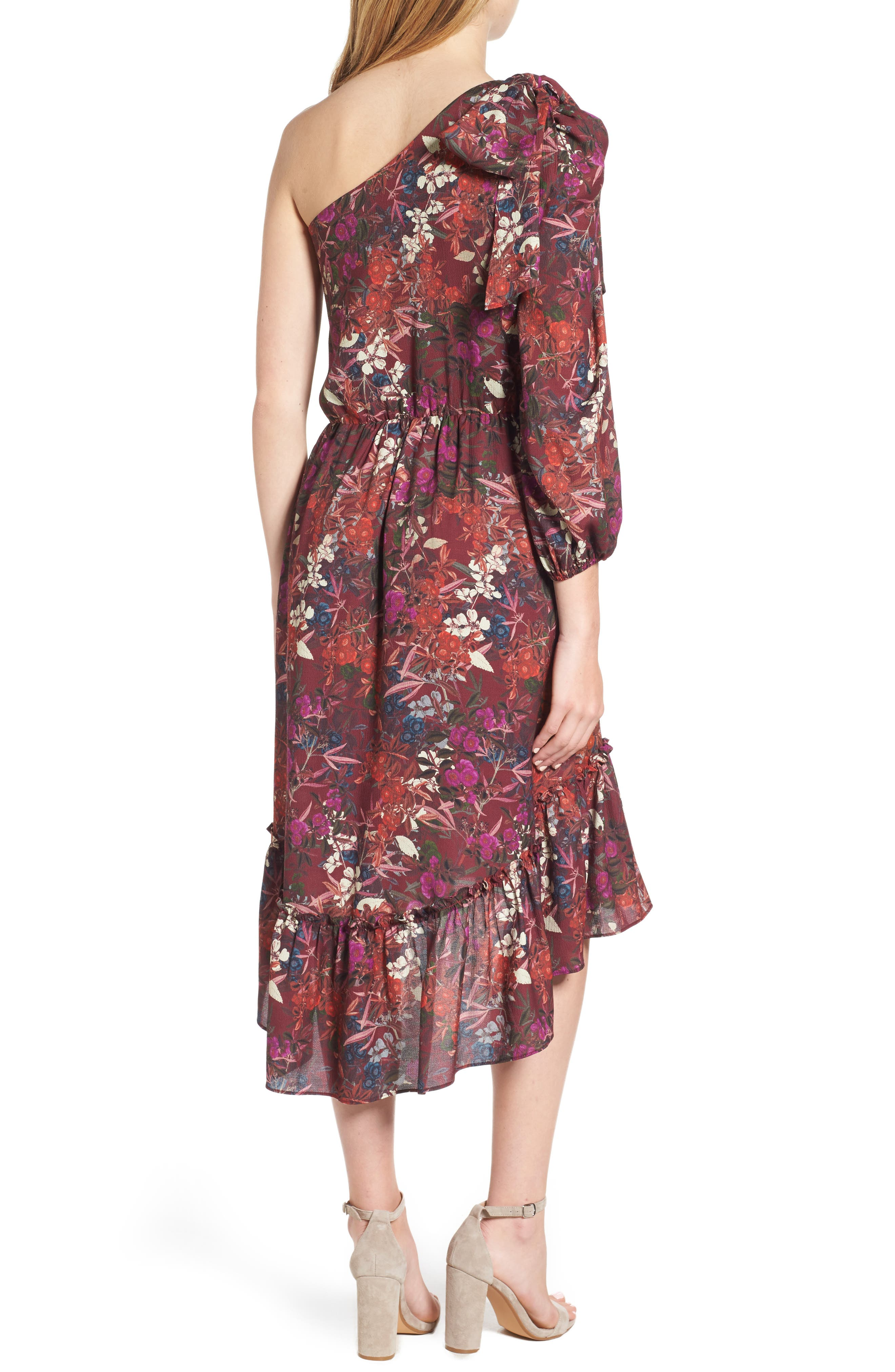Alternate Image 2  - Chelsea28 Asymmetrical Tiered Blouson Dress
