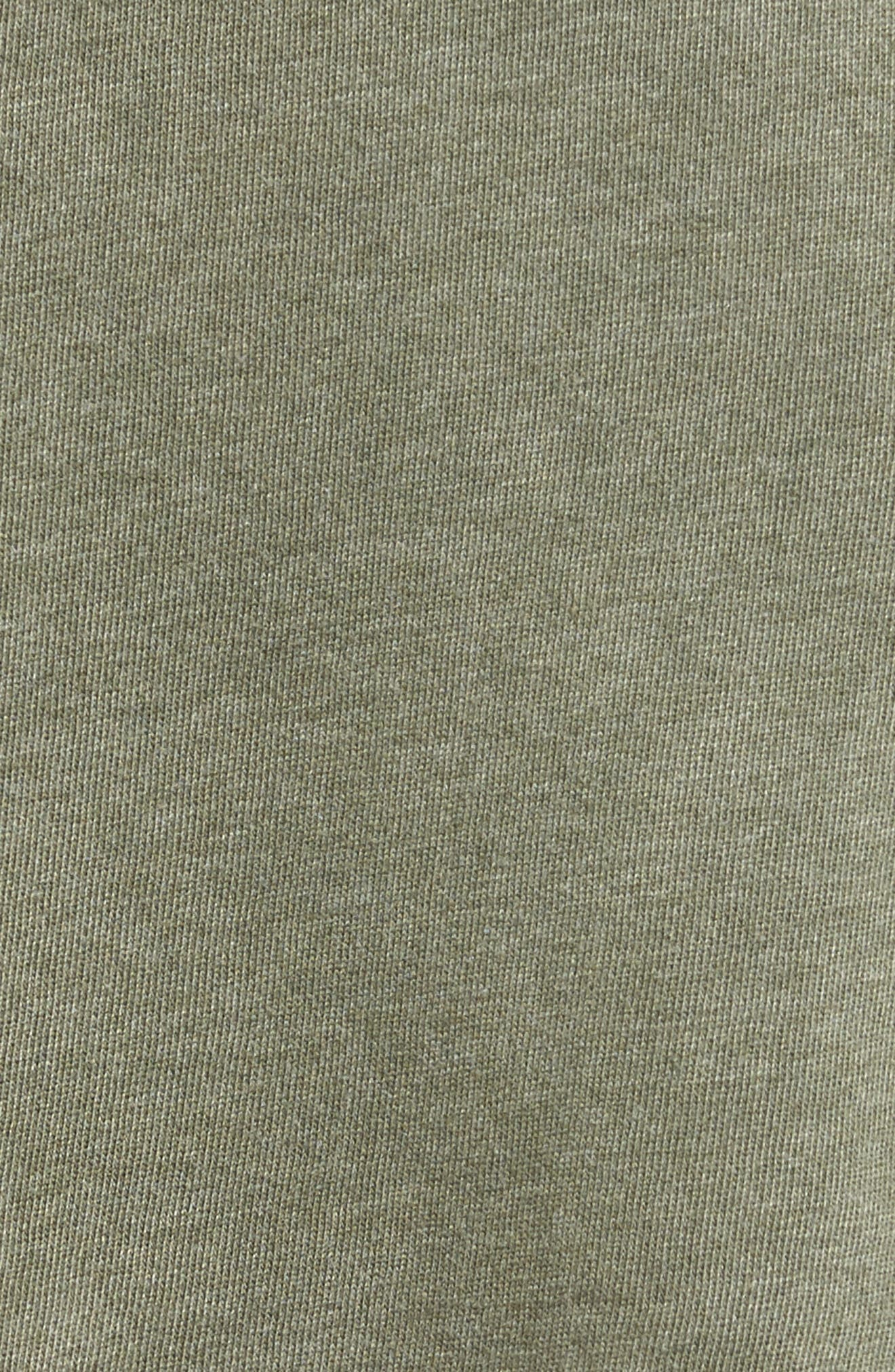 Ripped Sweatshirt Dress,                             Alternate thumbnail 5, color,                             Olive Dark