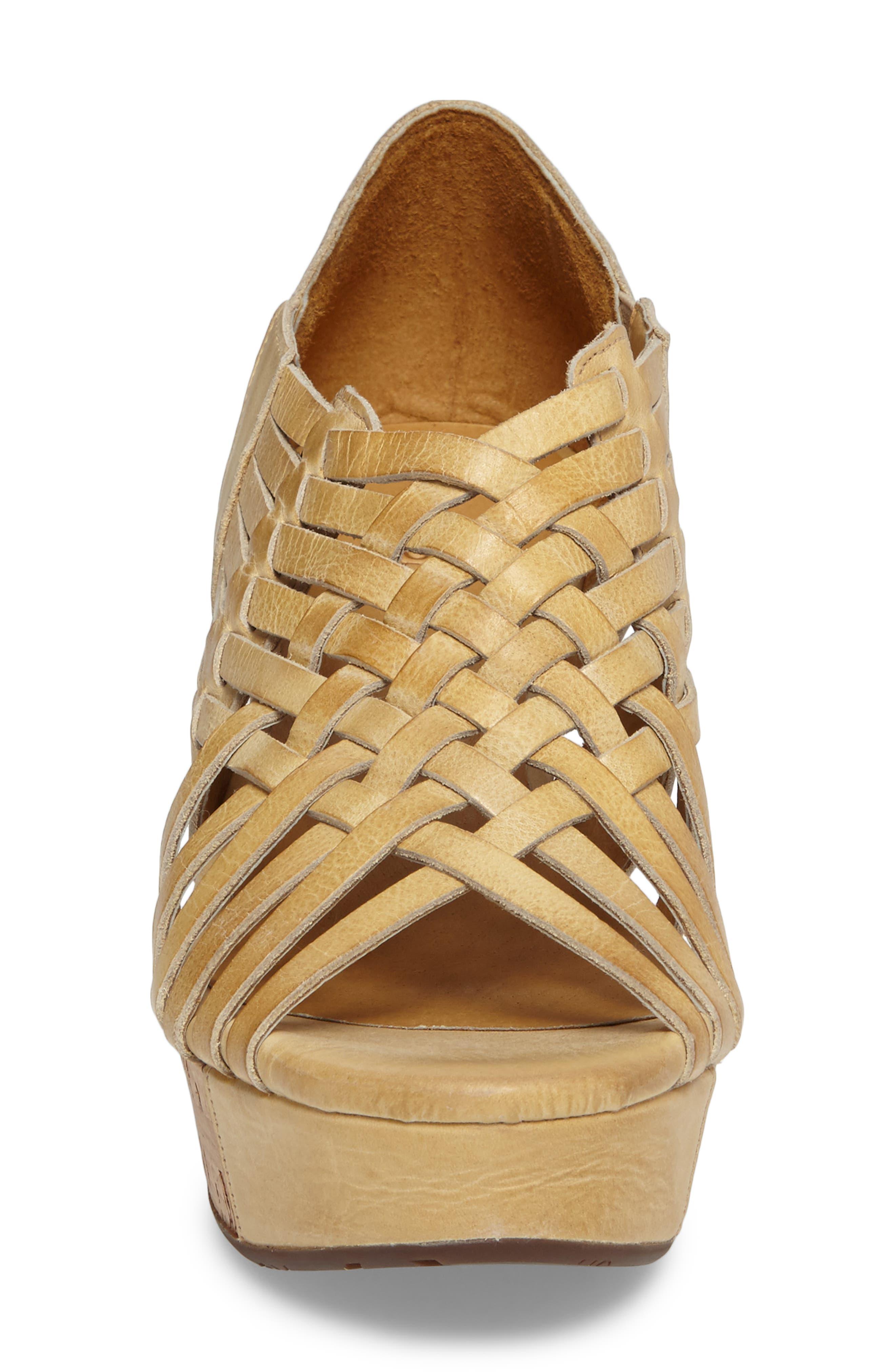 Vic Platform Sandal,                             Alternate thumbnail 3, color,                             Natural Leather