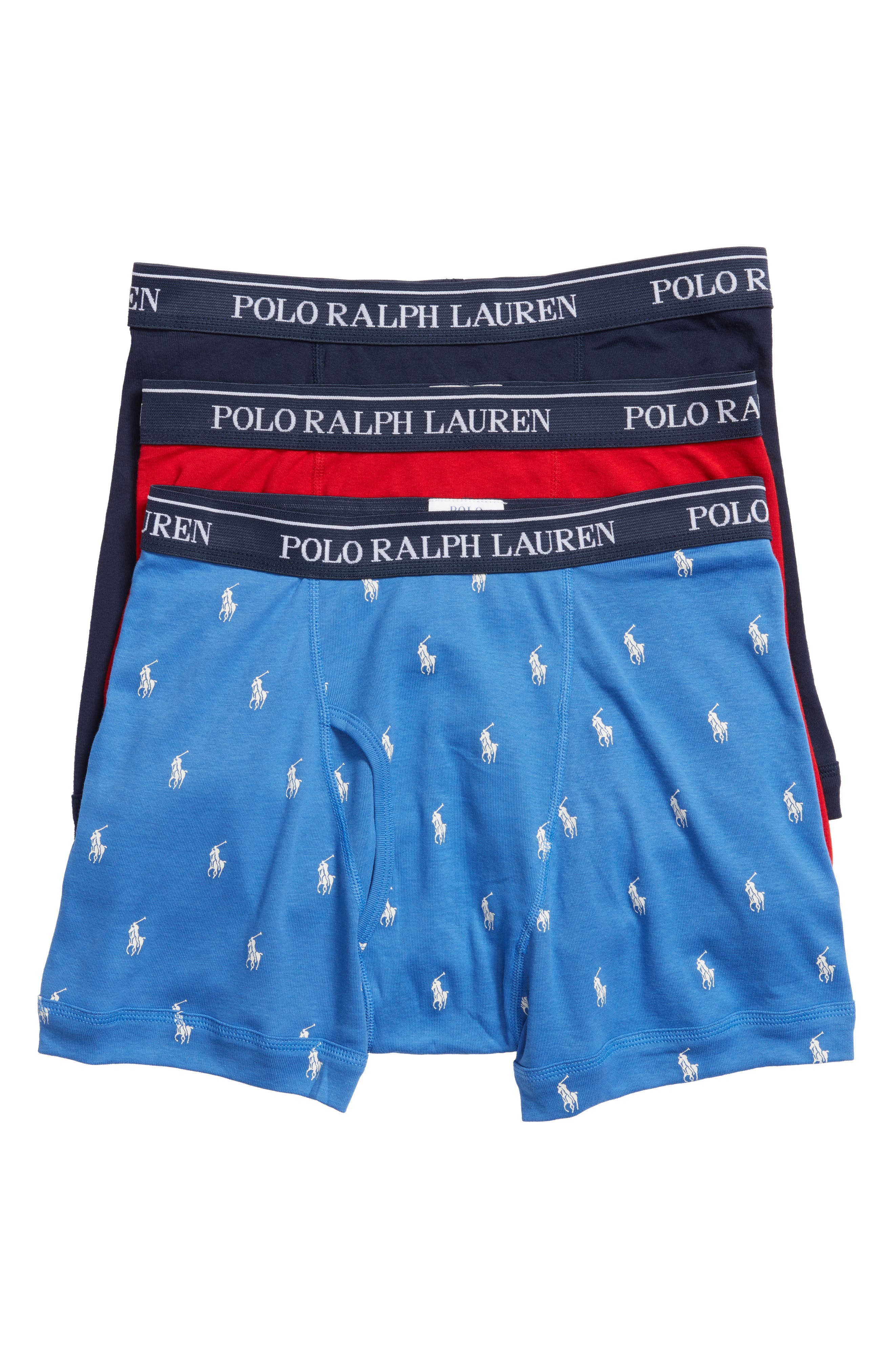 Polo Ralph Lauren Assorted 3-Pack Cotton Boxer Briefs