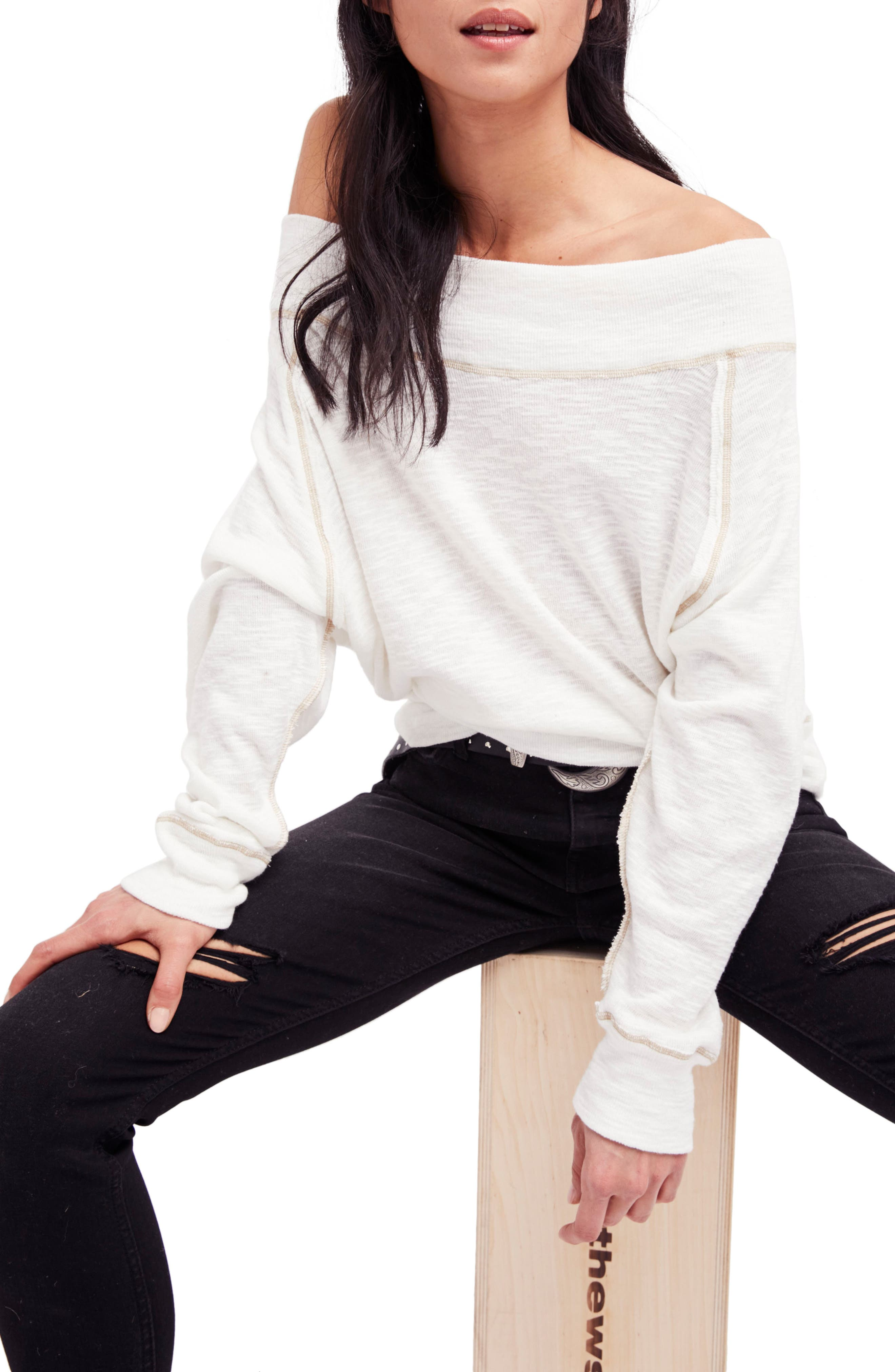Main Image - Free People Palisades Off the Shoulder Top