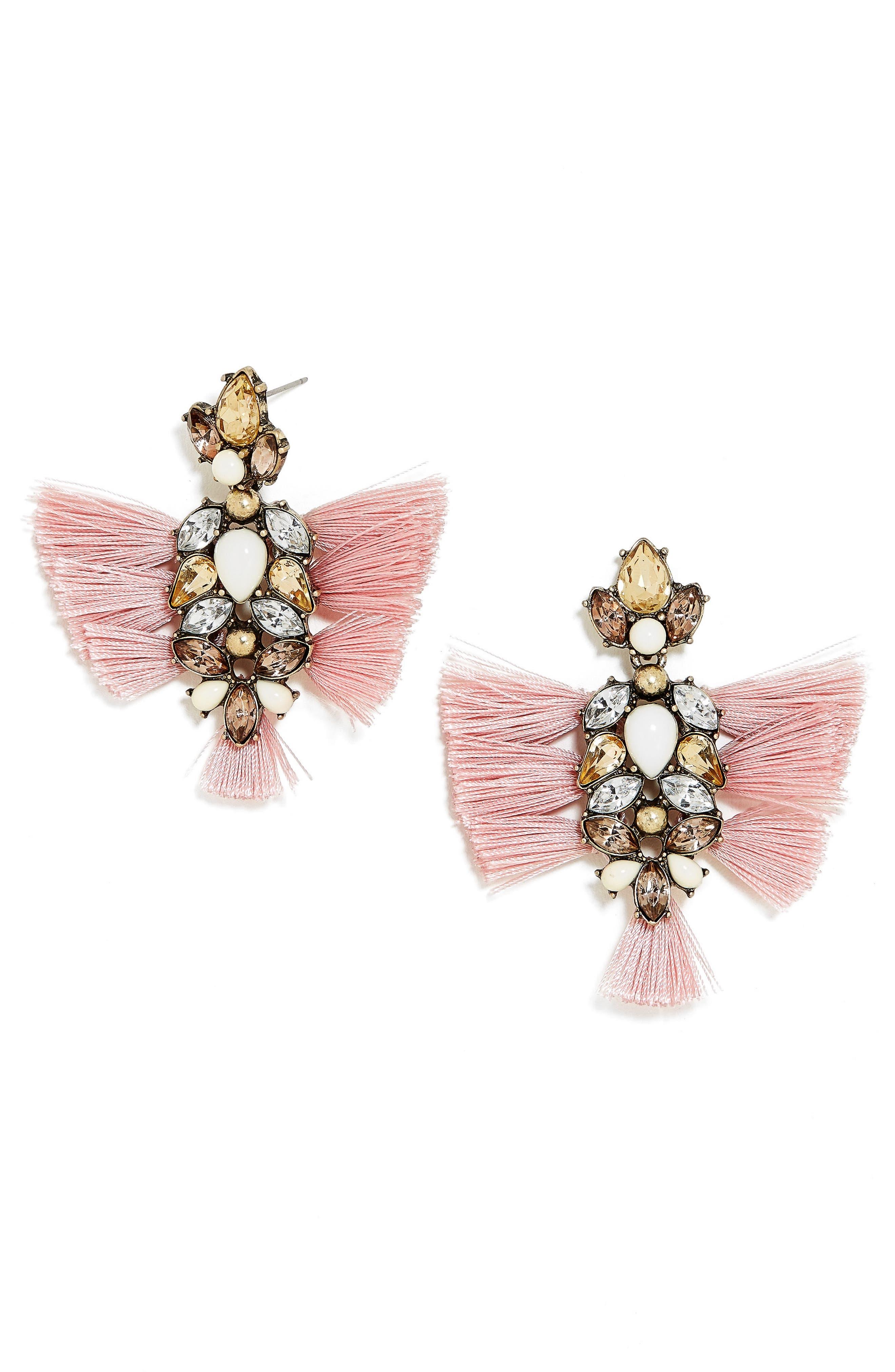 Rapunzel Earrings,                             Main thumbnail 1, color,                             Pink