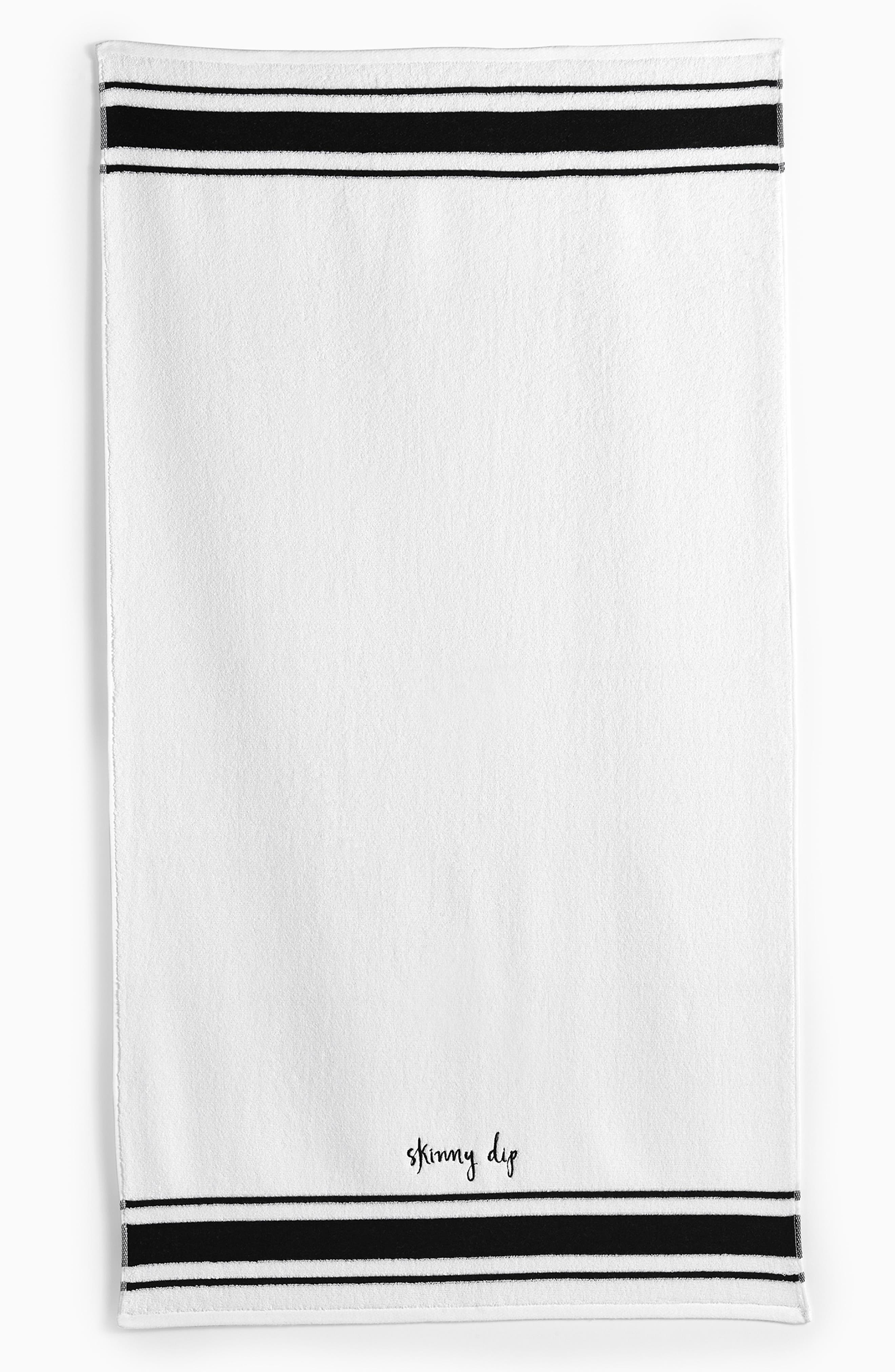 daisy place bath towel,                             Main thumbnail 1, color,                             White