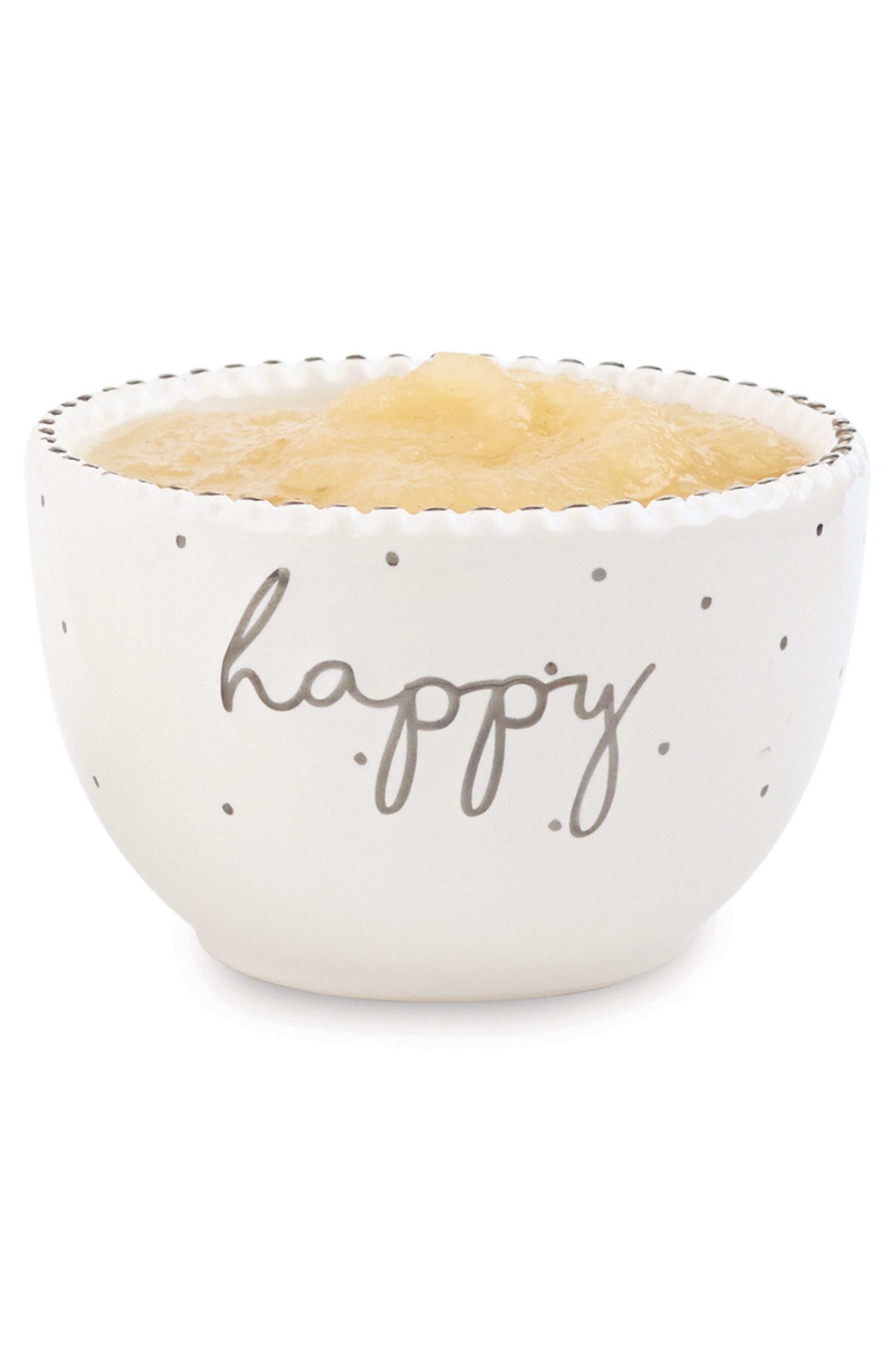 Happy Stoneware Dip Cup,                         Main,                         color, White