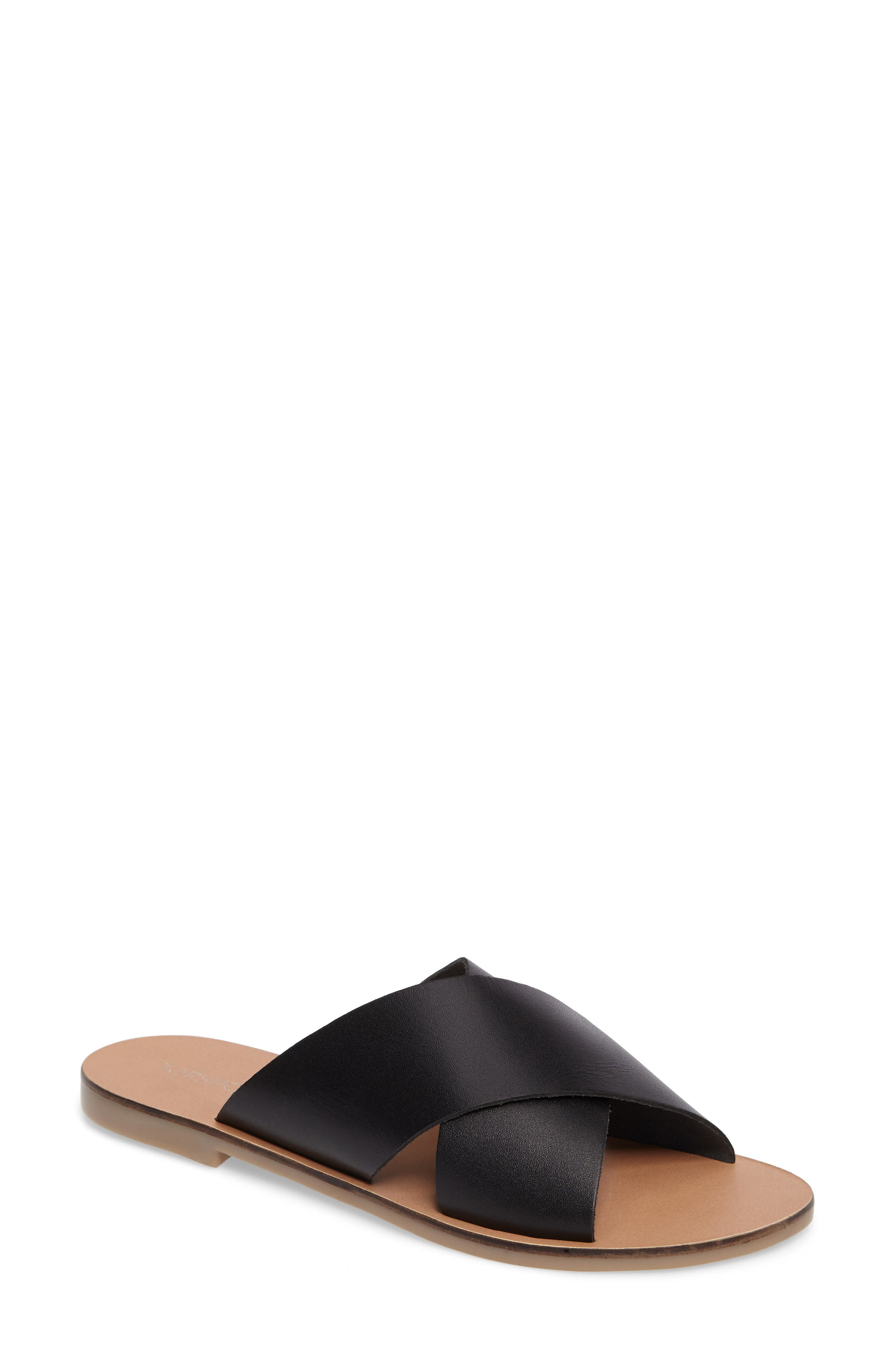 Alternate Image 1 Selected - Topshop Holiday Cross Strap Sandal (Women)