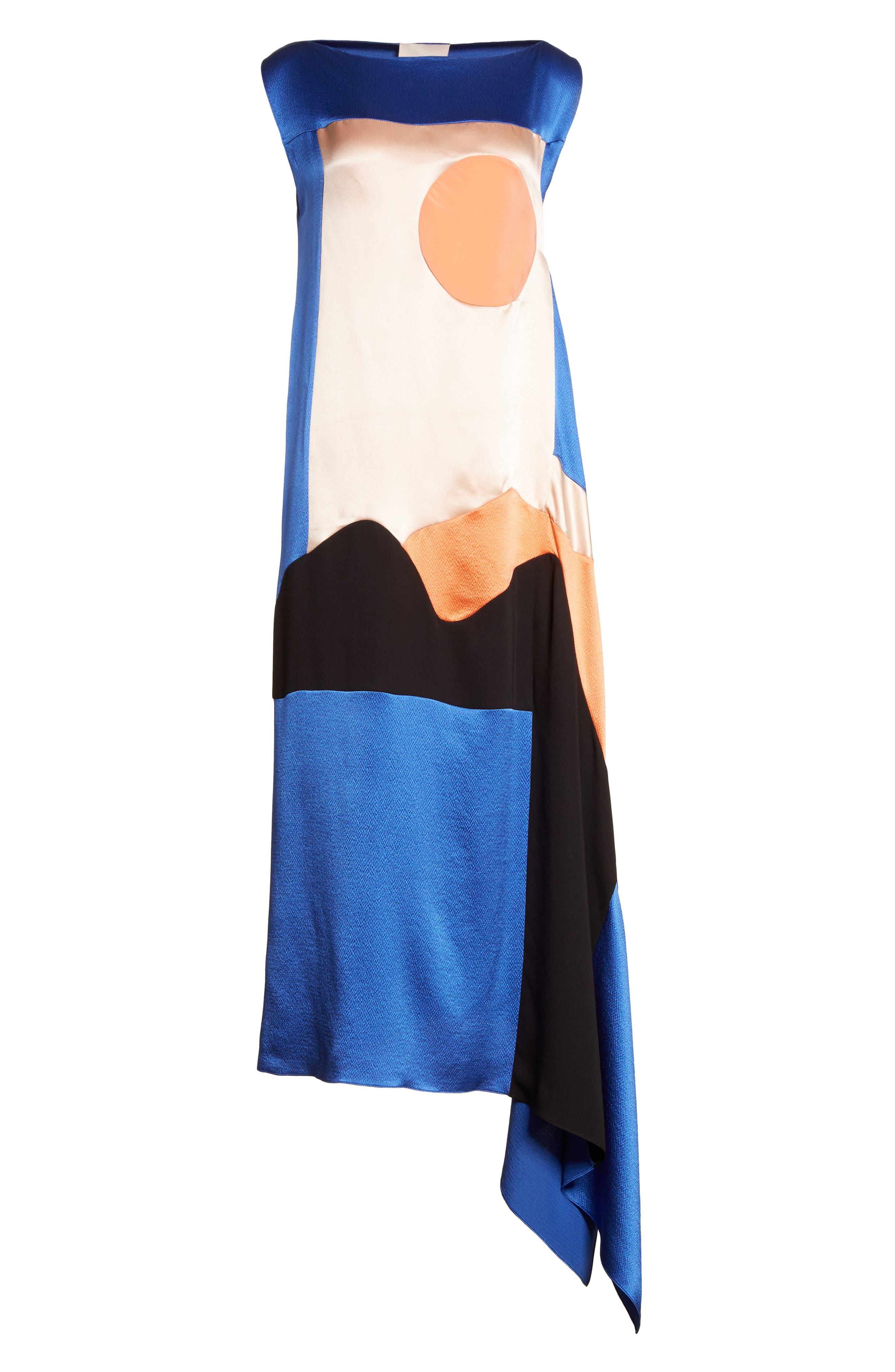 Alternate Image 6  - Roksanda Nakato Hammered Silk, Satin and Crêpe de Chine Midi Dress