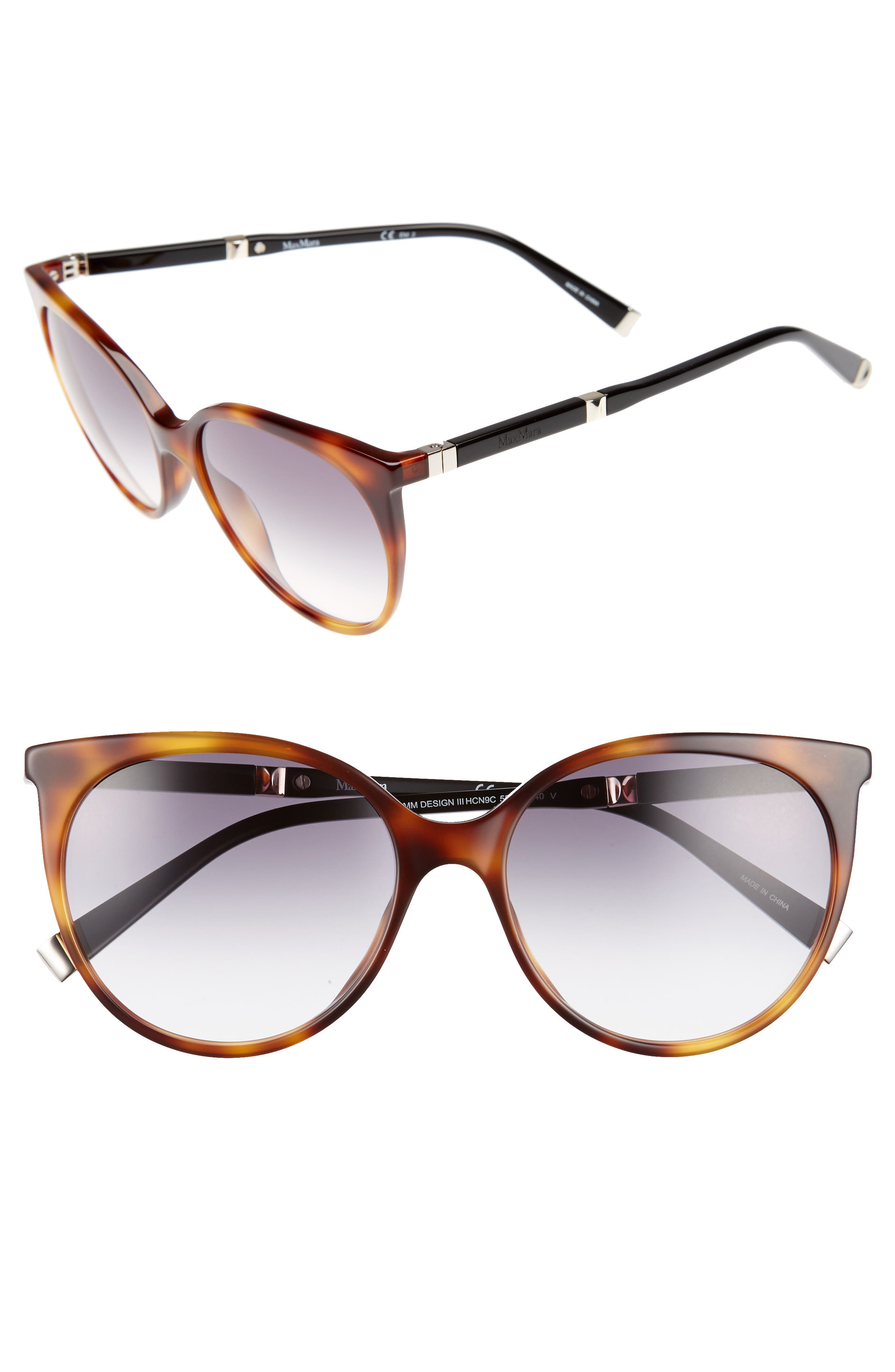 Max Mara Desigi 55mm Gradient Cat Eye Sunglasses