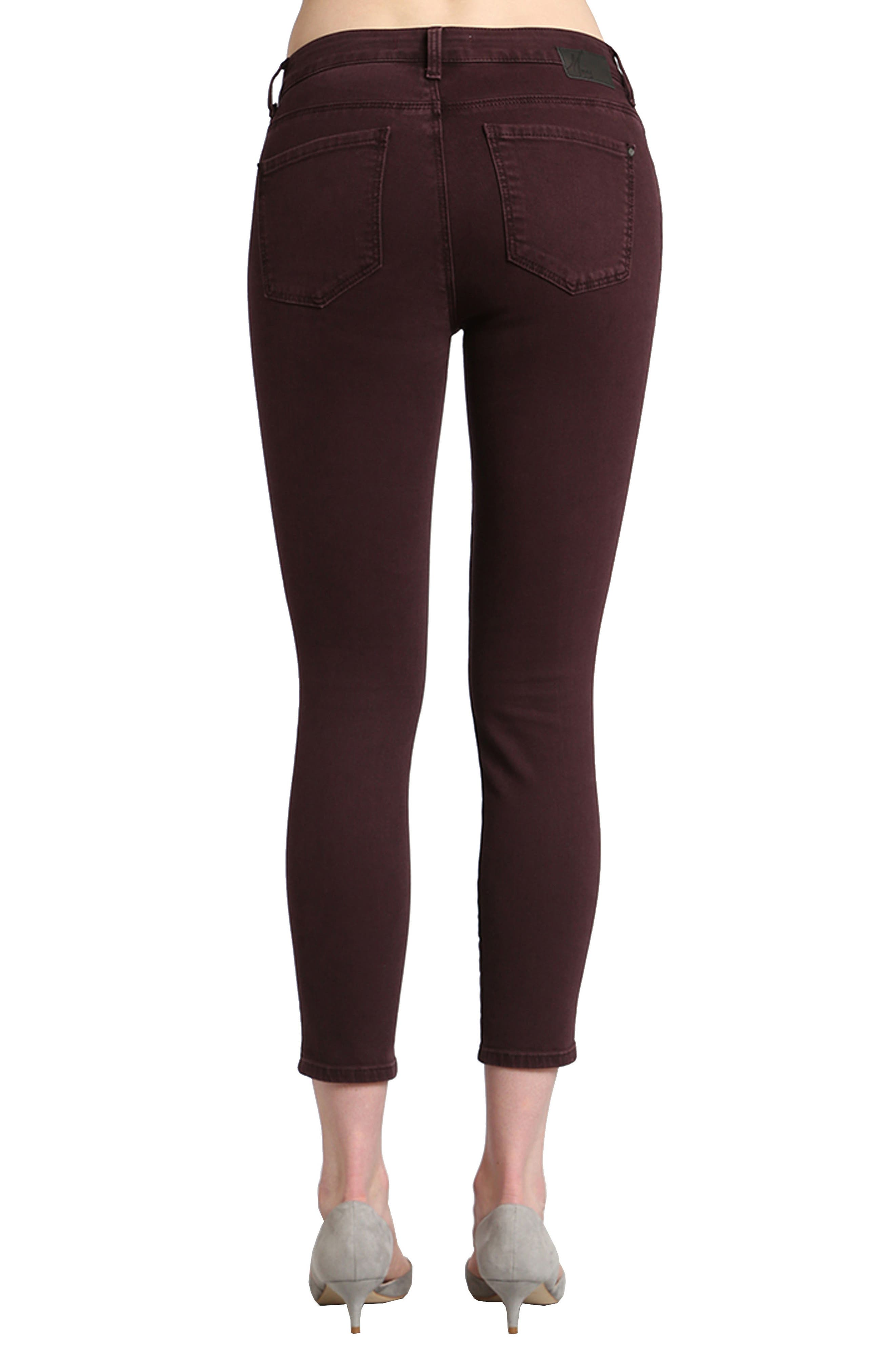 Alternate Image 2  - Mavi Jeans Tess Skinny Jeans (Wine)