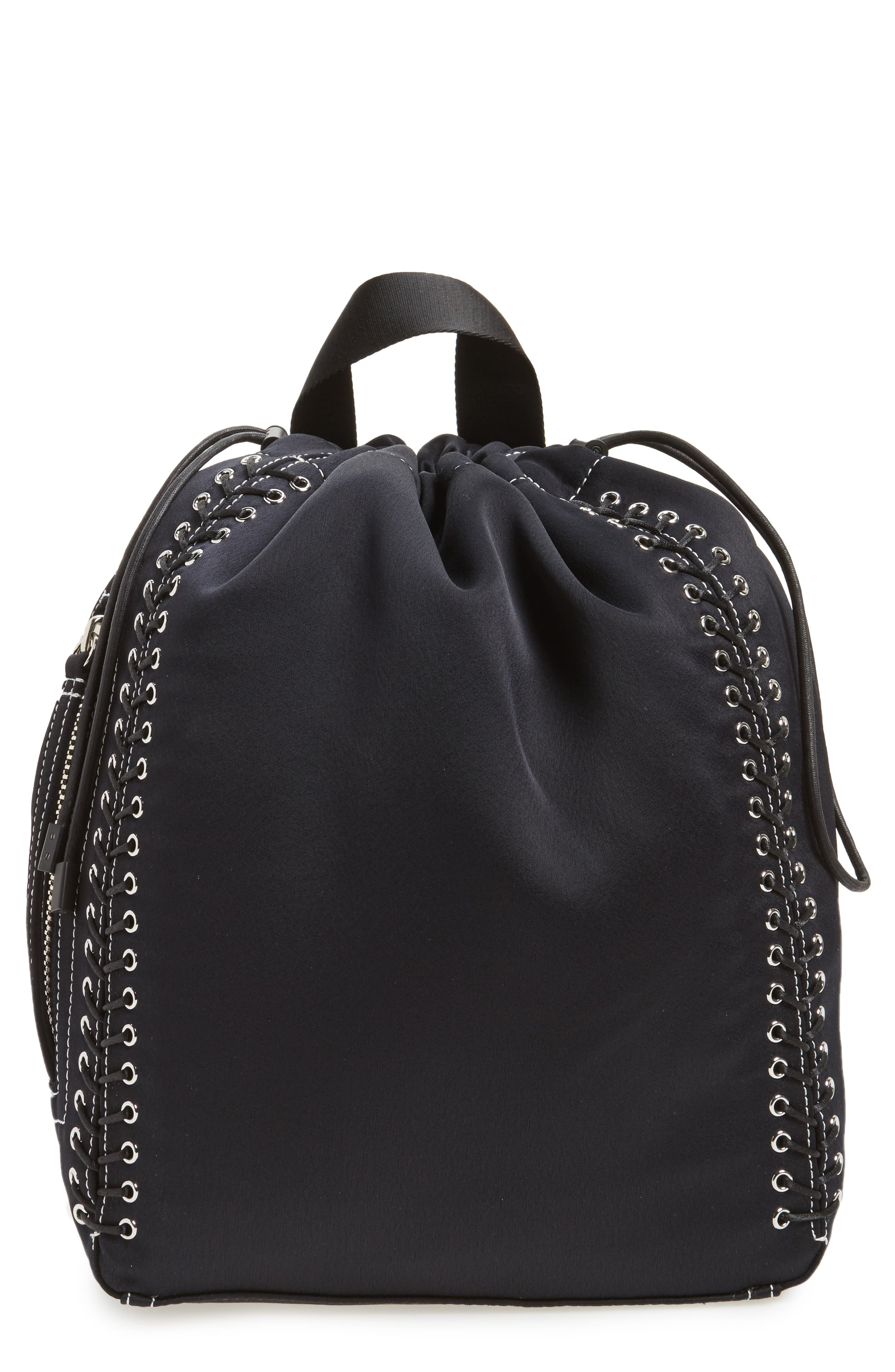 Phillip Lim 3.1 Medium Go-Go Lace-Up Backpack,                         Main,                         color, Phantom Blue