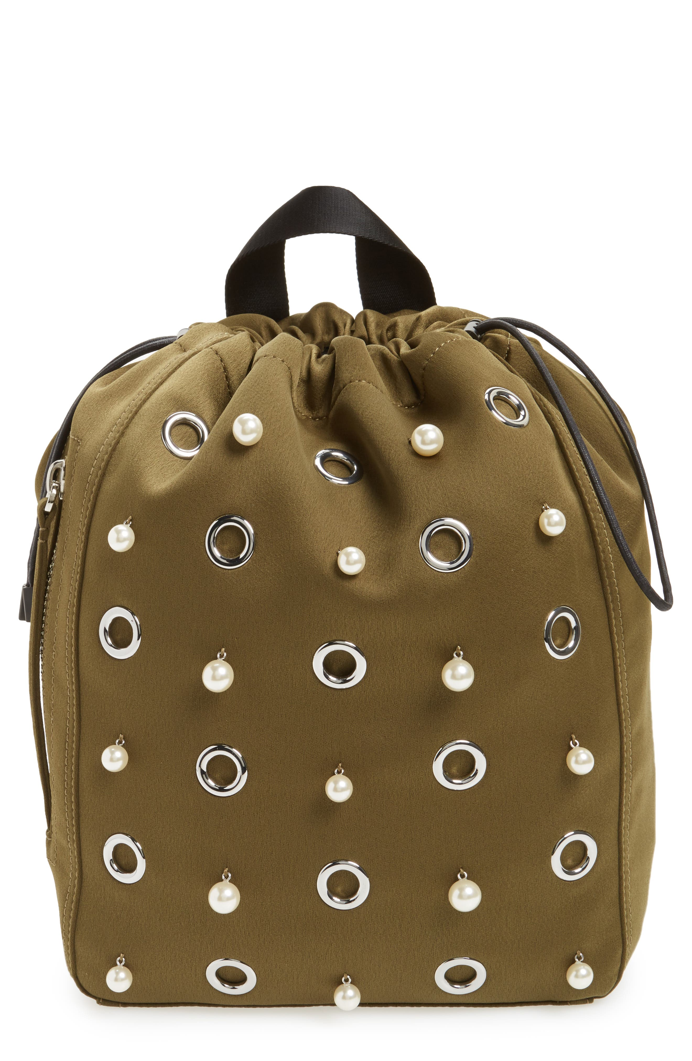 Phillip Lim 3.1 Medium Go-Go Embellished Backpack,                             Main thumbnail 1, color,                             Moss