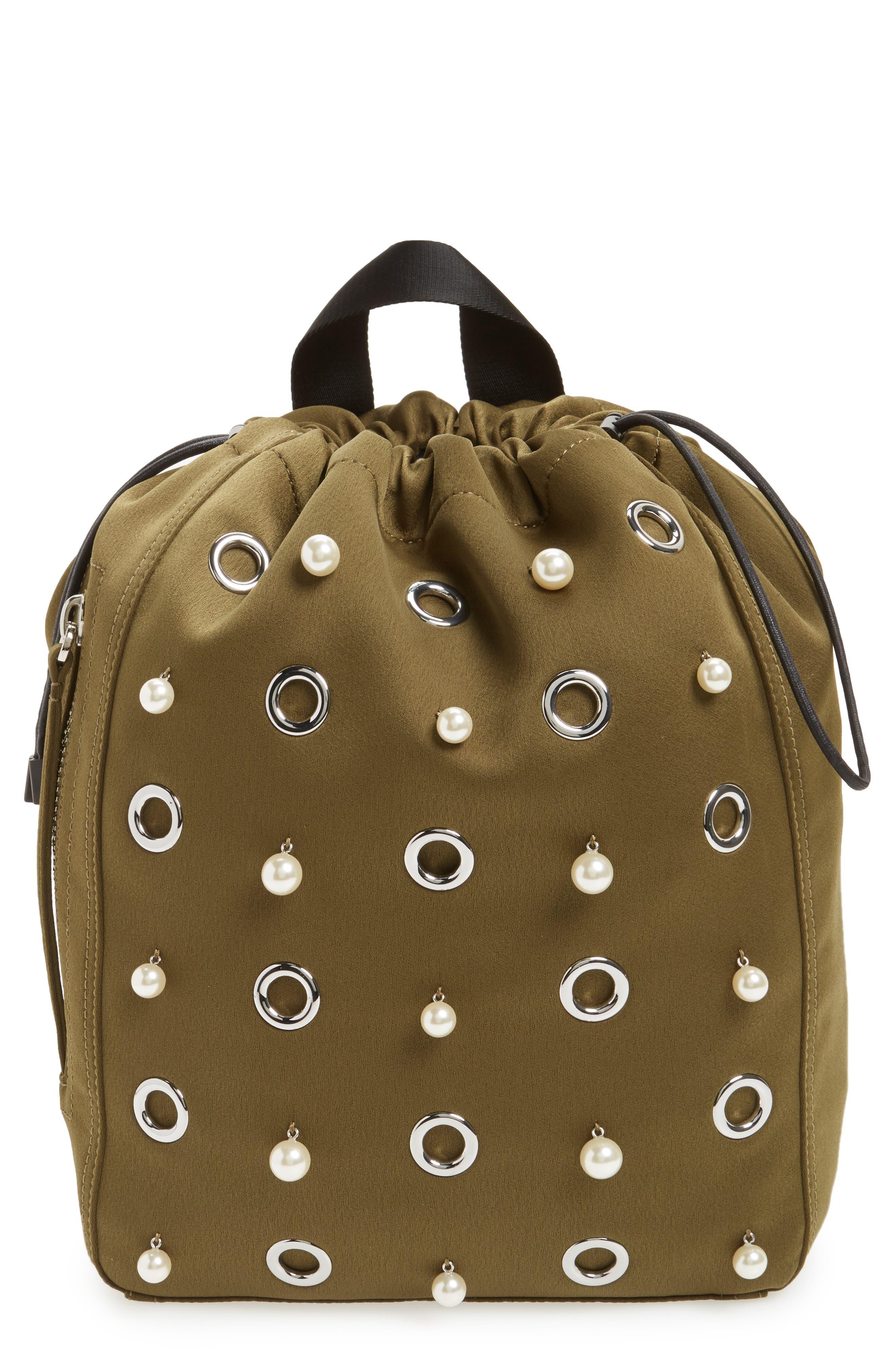Phillip Lim 3.1 Medium Go-Go Embellished Backpack,                         Main,                         color, Moss