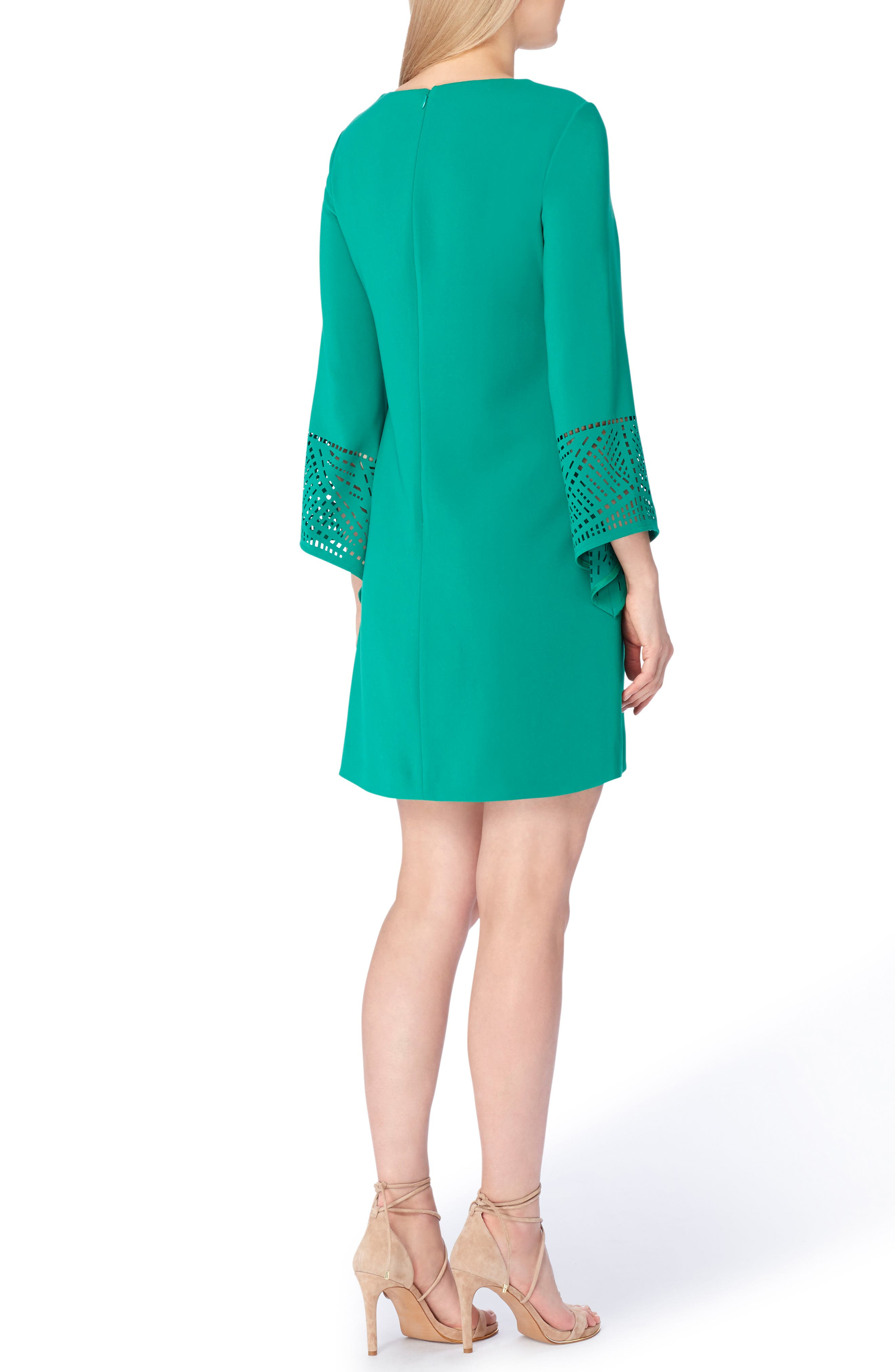 Alternate Image 2  - Tahari Long Sleeve Shift Dress