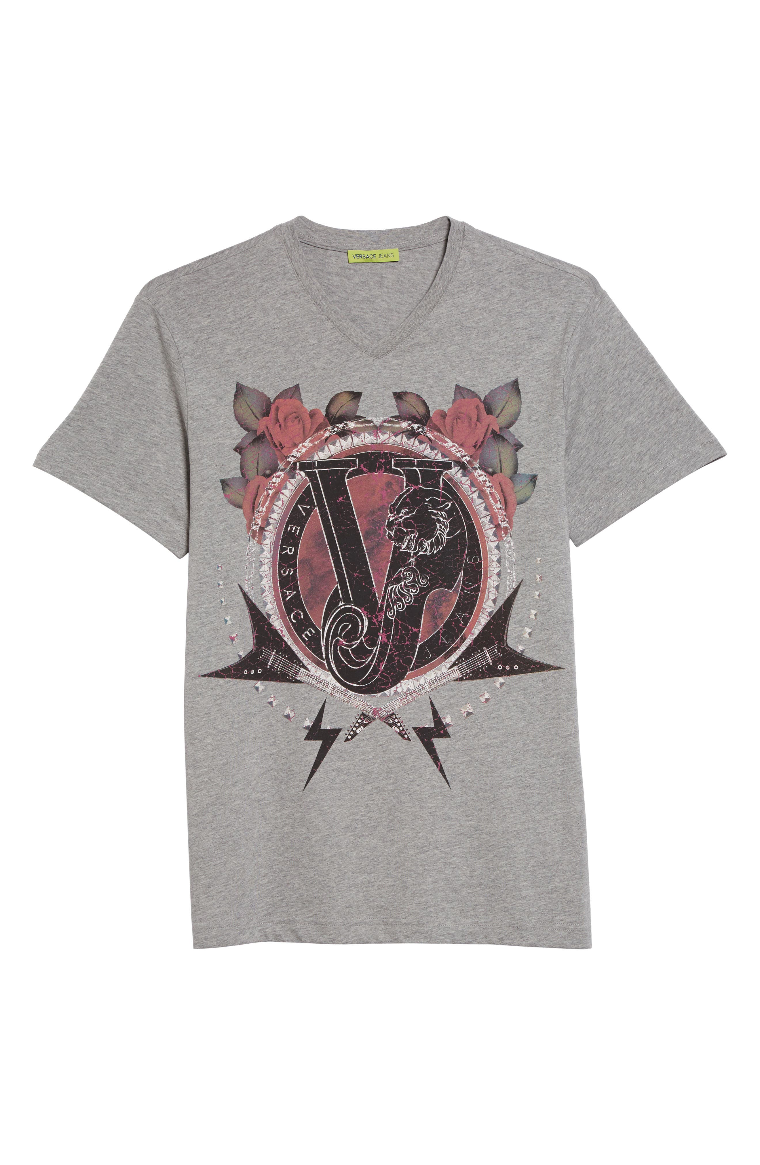 Alternate Image 6  - Versace Jeans Graphic V-Neck T-Shirt