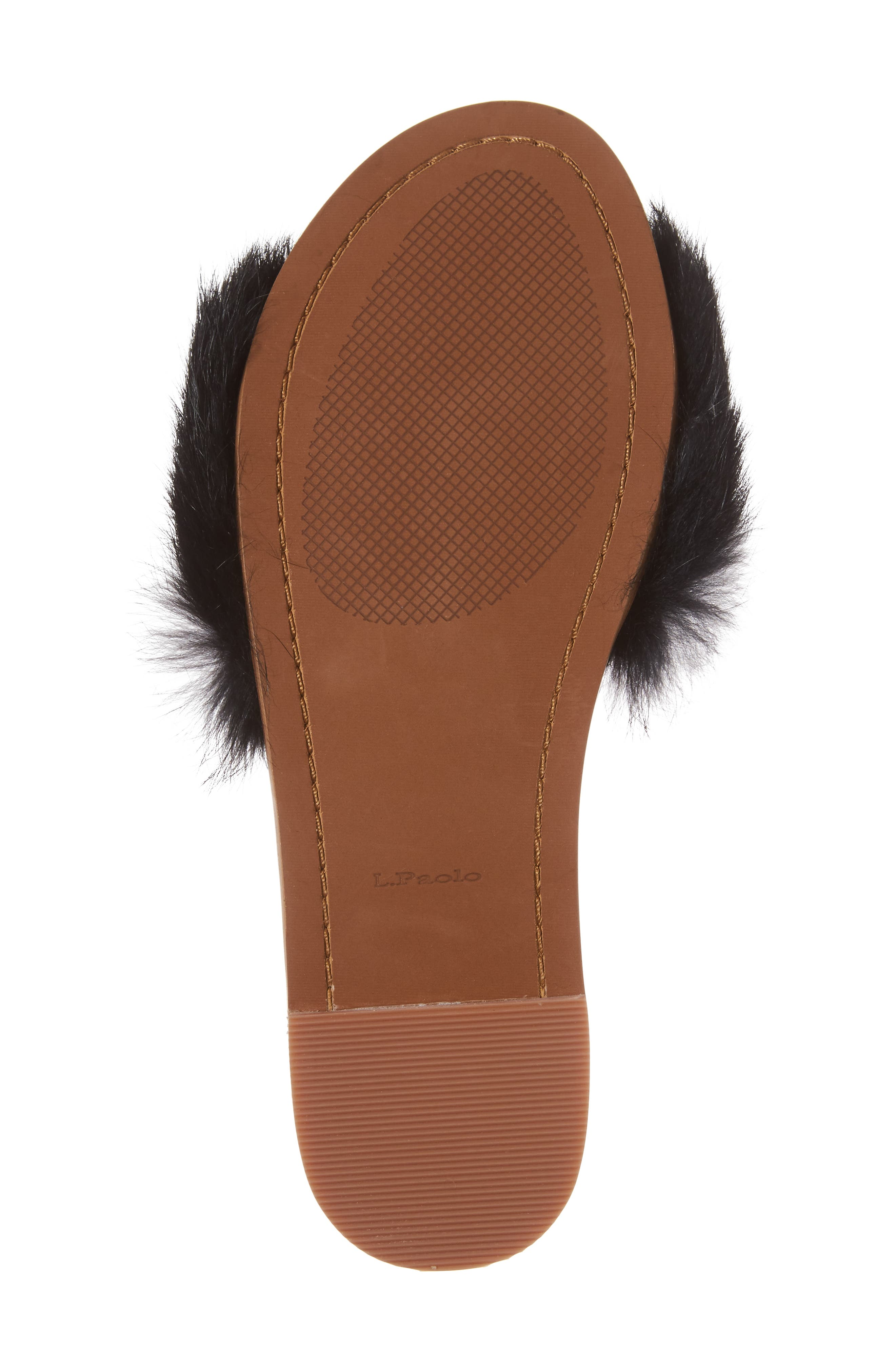 Alternate Image 6  - Linea Paolo Lisa Genuine Rabbit Fur Slide Sandal (Women)