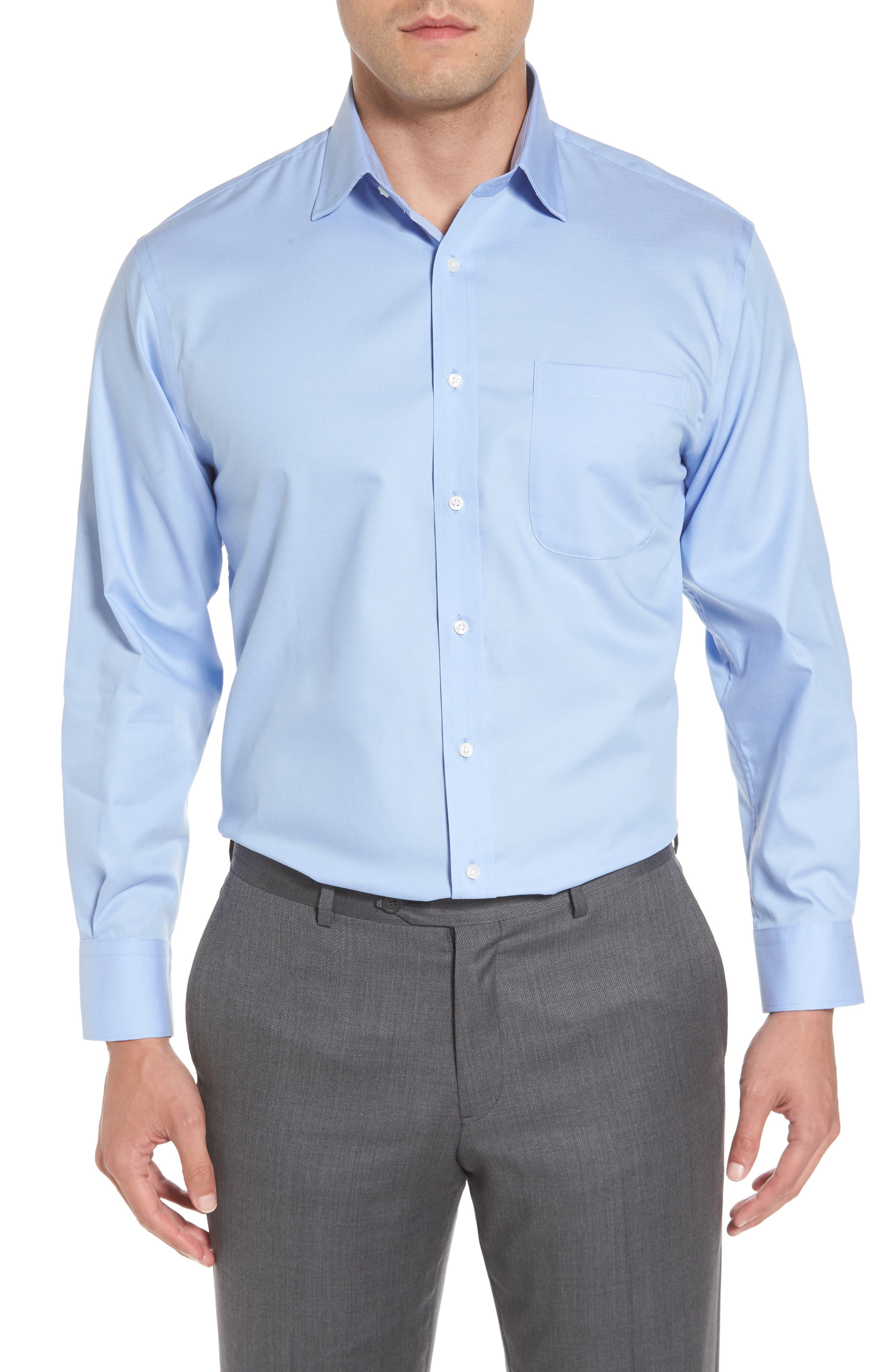 Alternate Image 2  - Nordstrom Men's Shop Traditional Fit Non-Iron Solid Dress Shirt