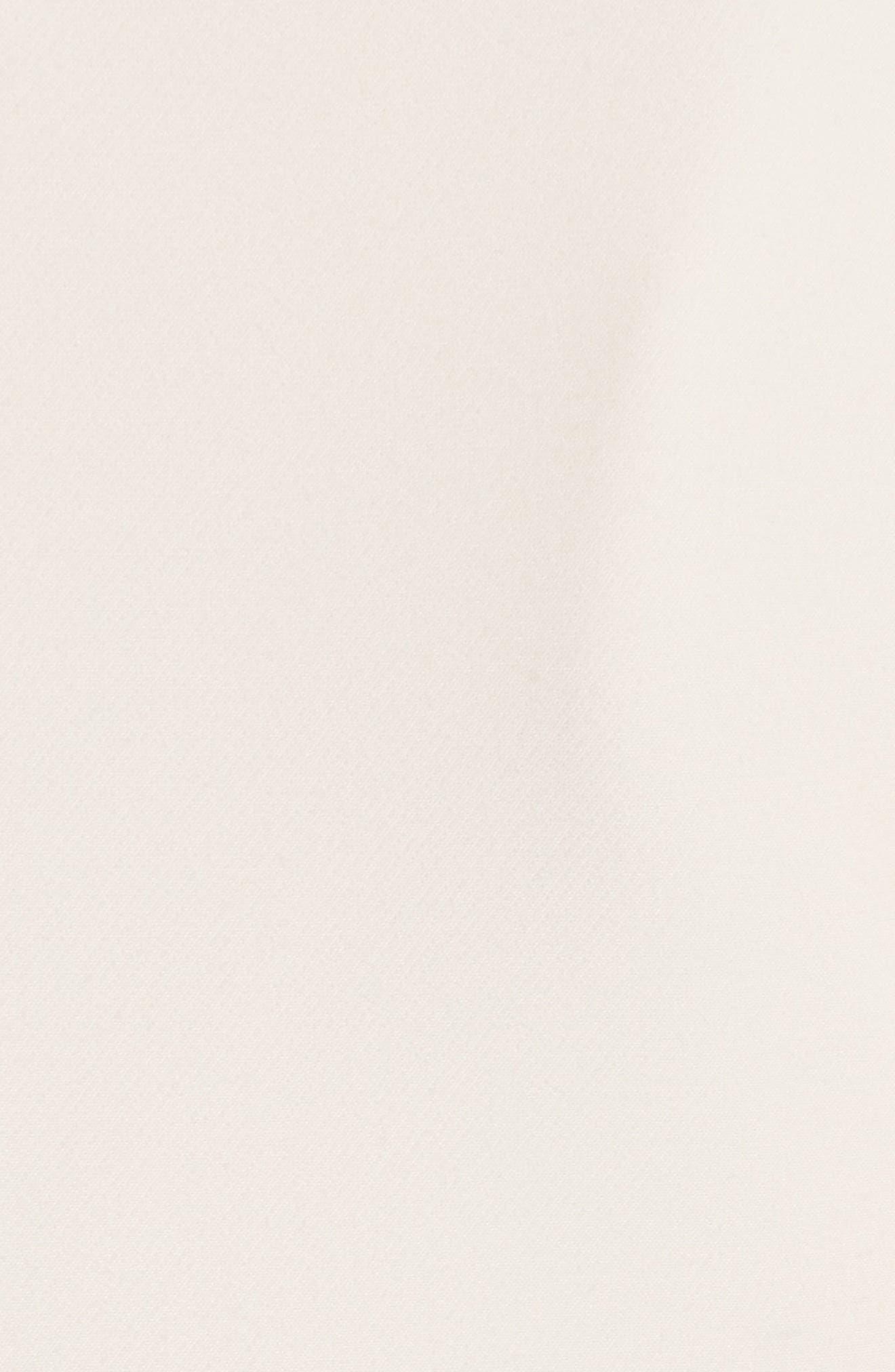 Ruffle Trim Suit Dress,                             Alternate thumbnail 5, color,                             Cream Combo
