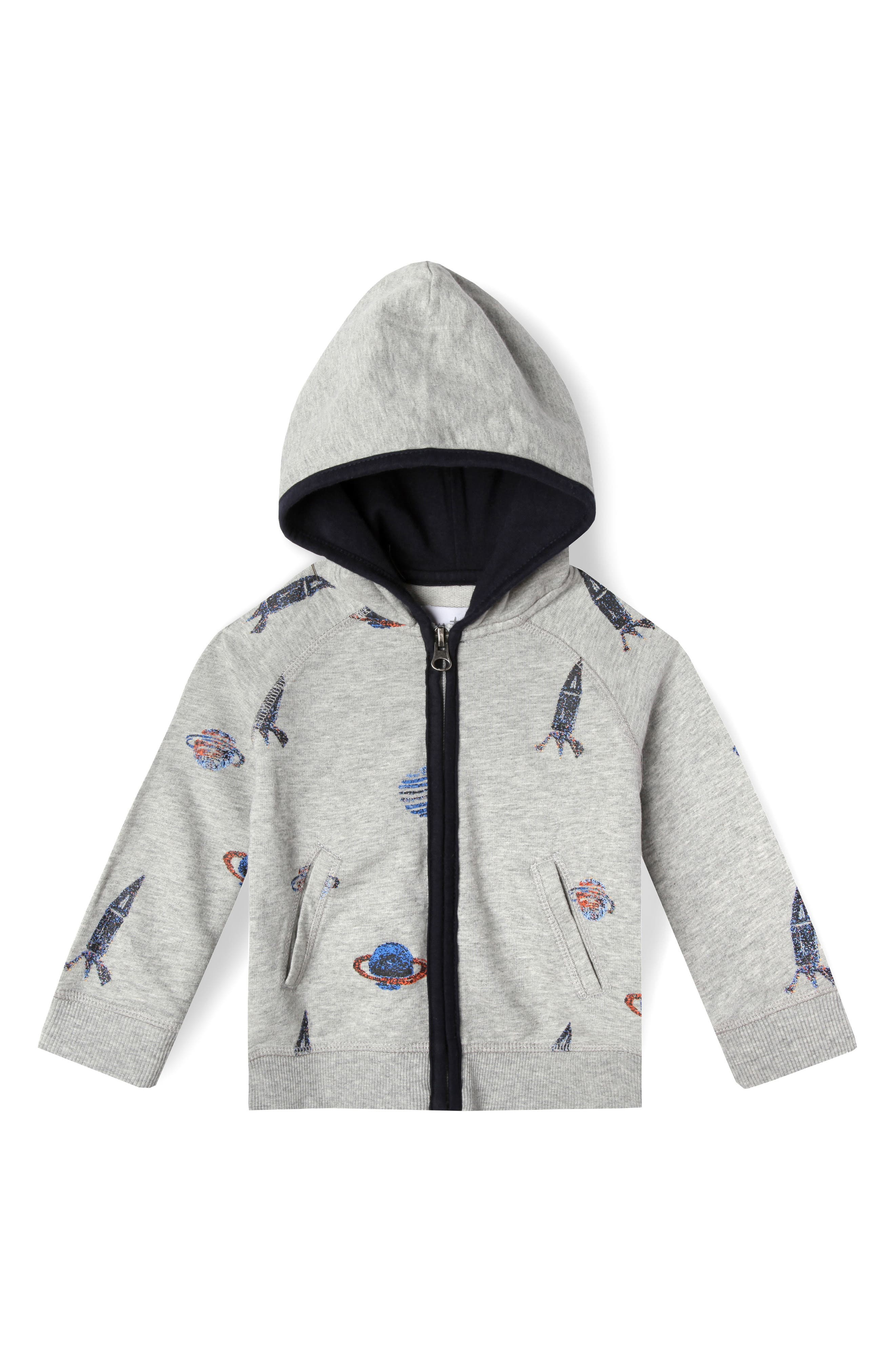 Alternate Image 1 Selected - Art & Eden Astro Organic Cotton Hoodie (Baby Boys)