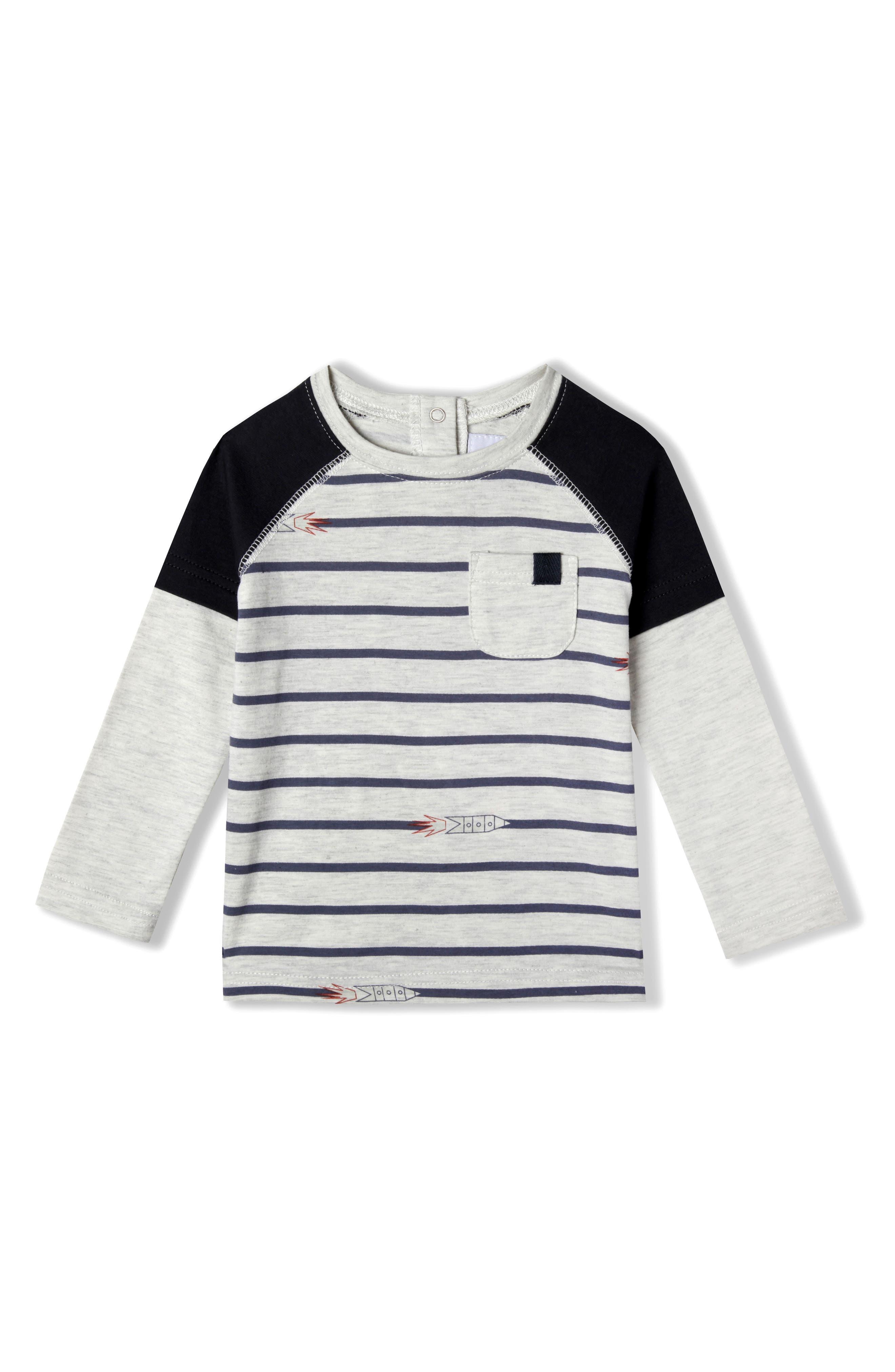 Rocket Organic Cotton T-Shirt,                             Main thumbnail 1, color,                             Marled