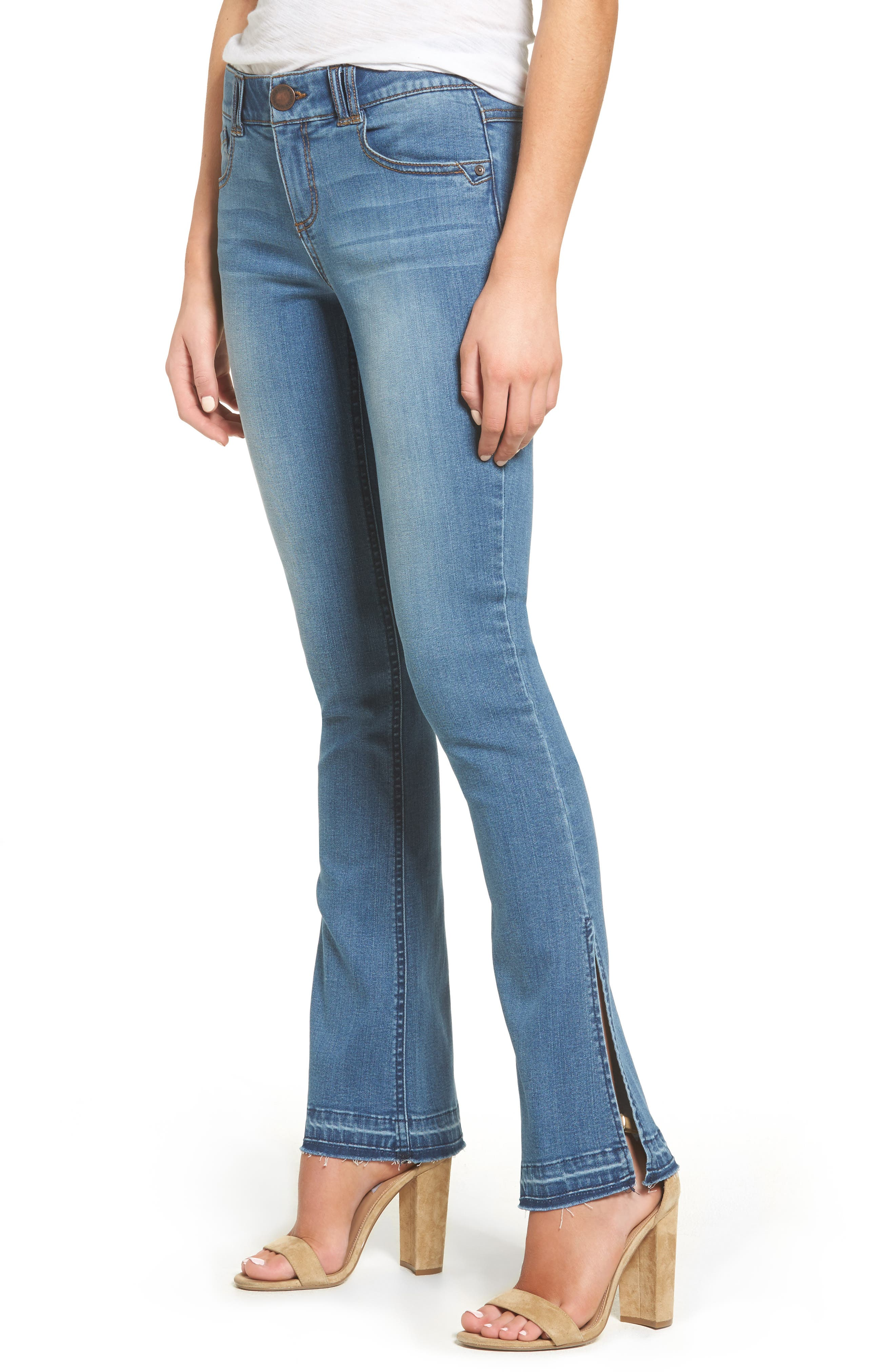 Alternate Image 1 Selected - Wit & Wisdom Ab-solution Split Release Hem Jeans (Regular & Petite) (Nordstrom Exclusive)