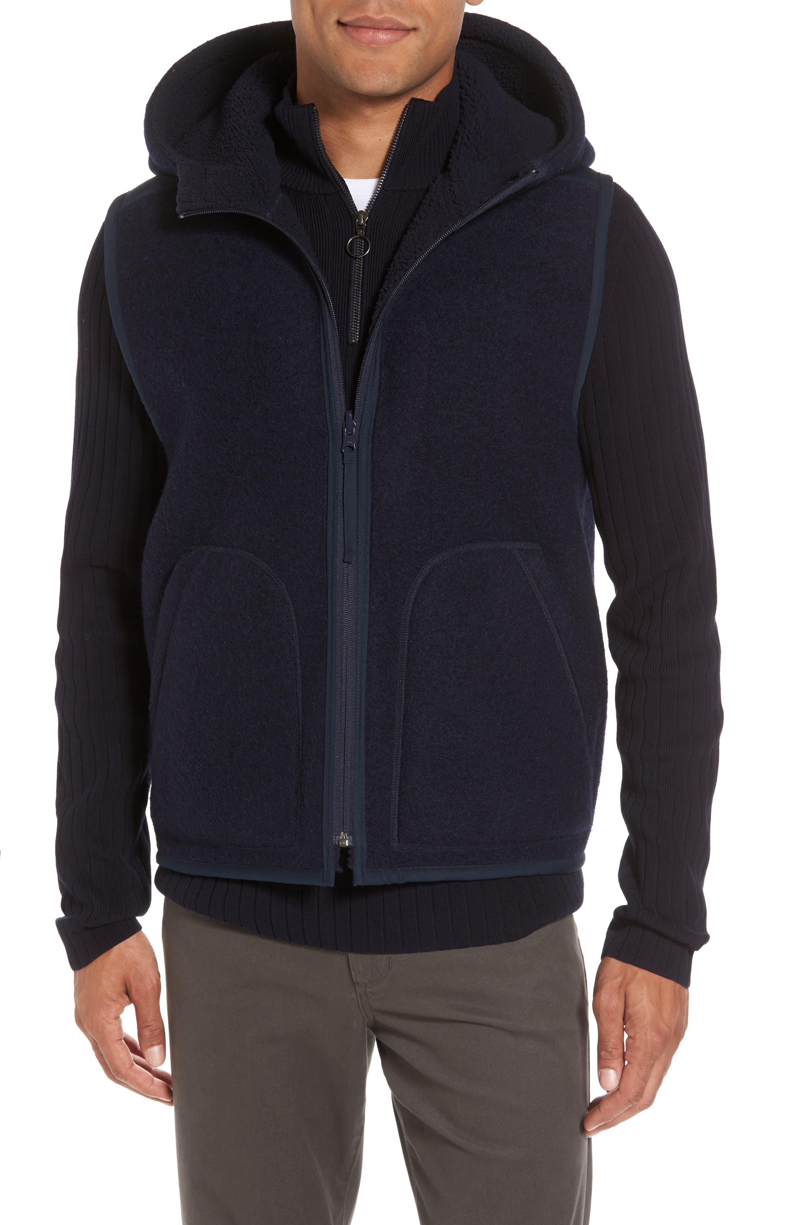 Alternate Image 4  - Vince Reversible Hooded Faux Shearling Vest