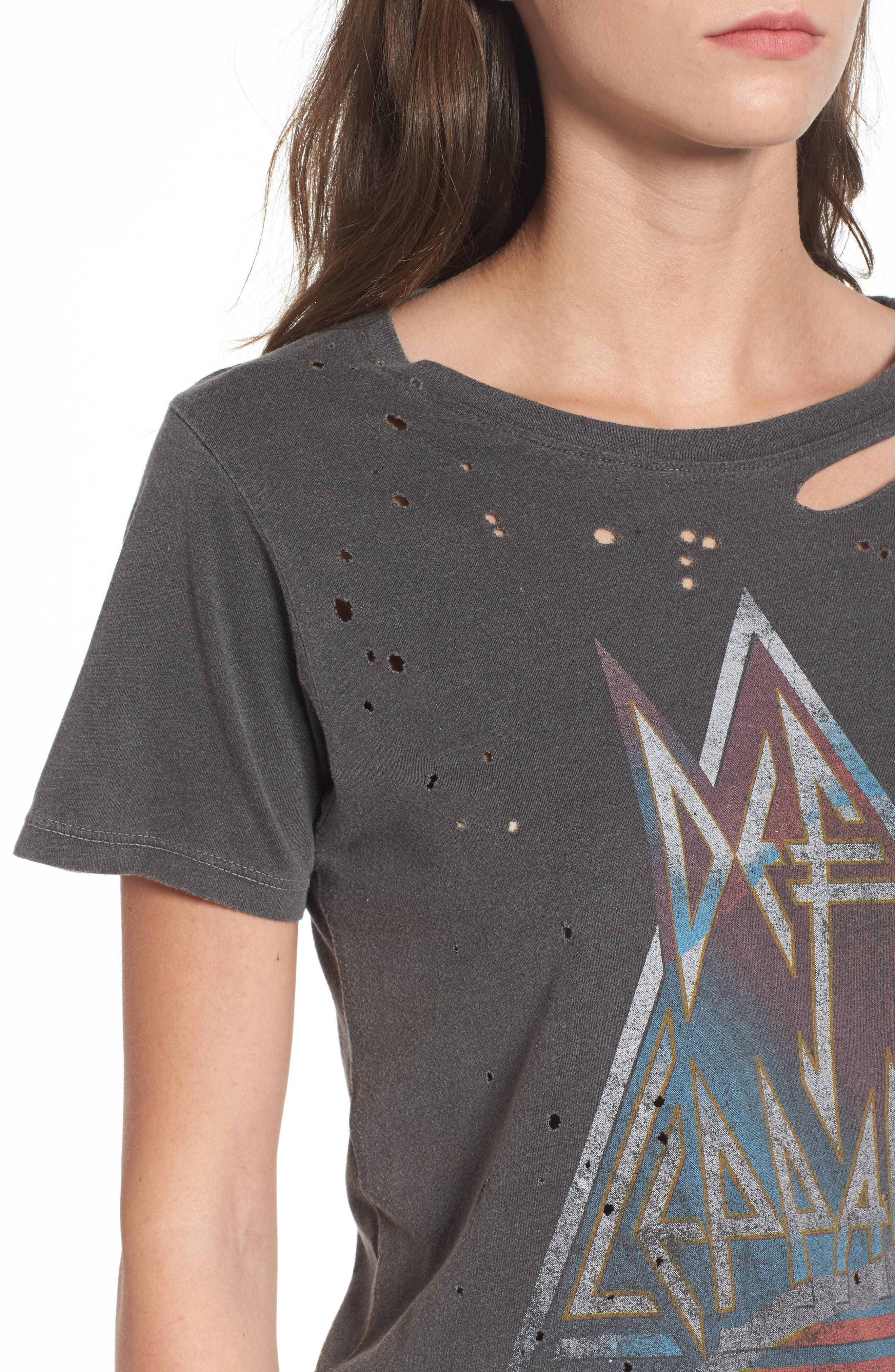 Alternate Image 4  - Daydreamer Through the Night Destroyed Graphic Tee