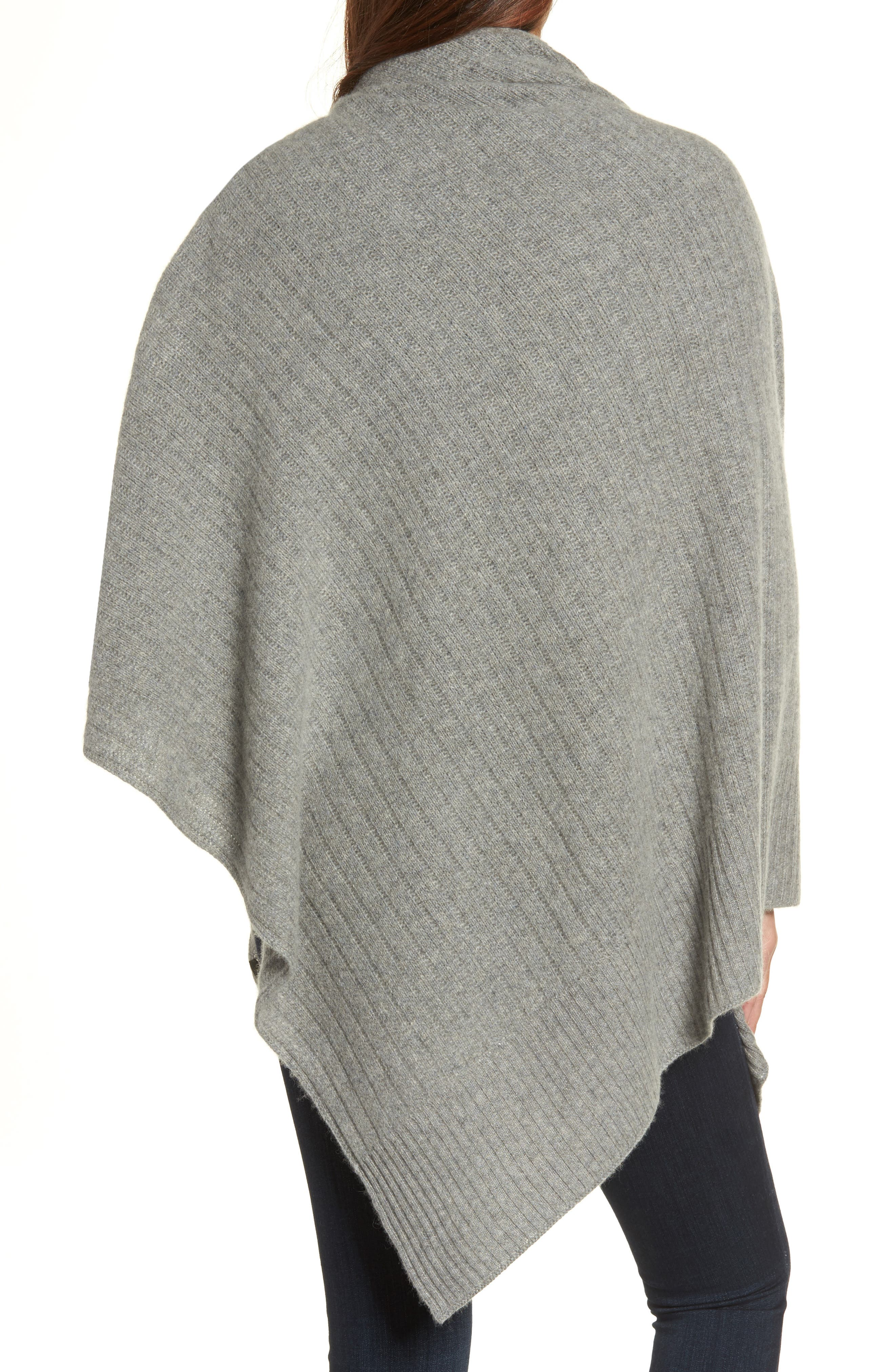Cashmere Wrap,                             Alternate thumbnail 2, color,                             Grey Med Htr