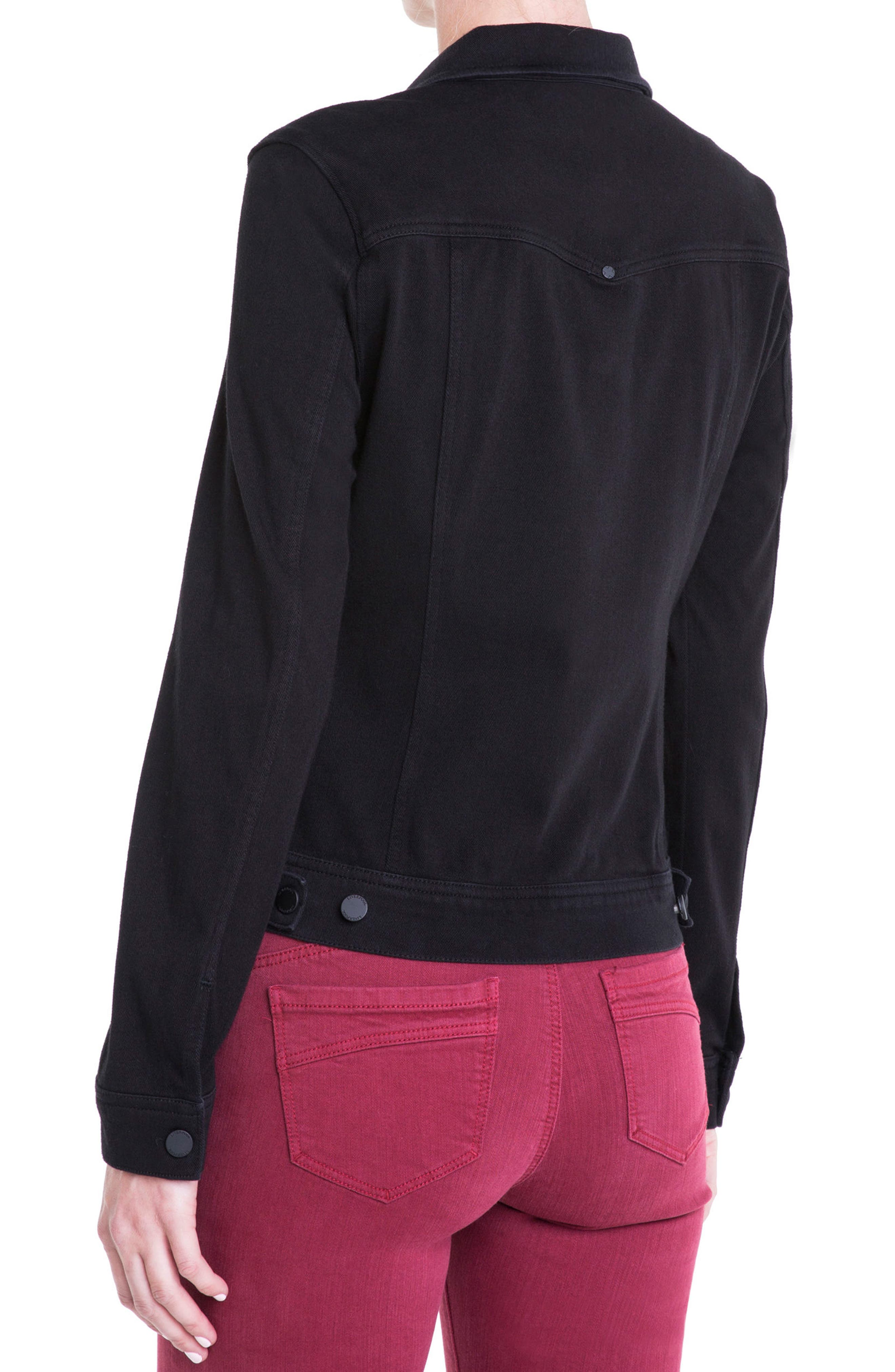 Alternate Image 4  - Liverpool Jeans Co. Knit Denim Jacket (Petite)