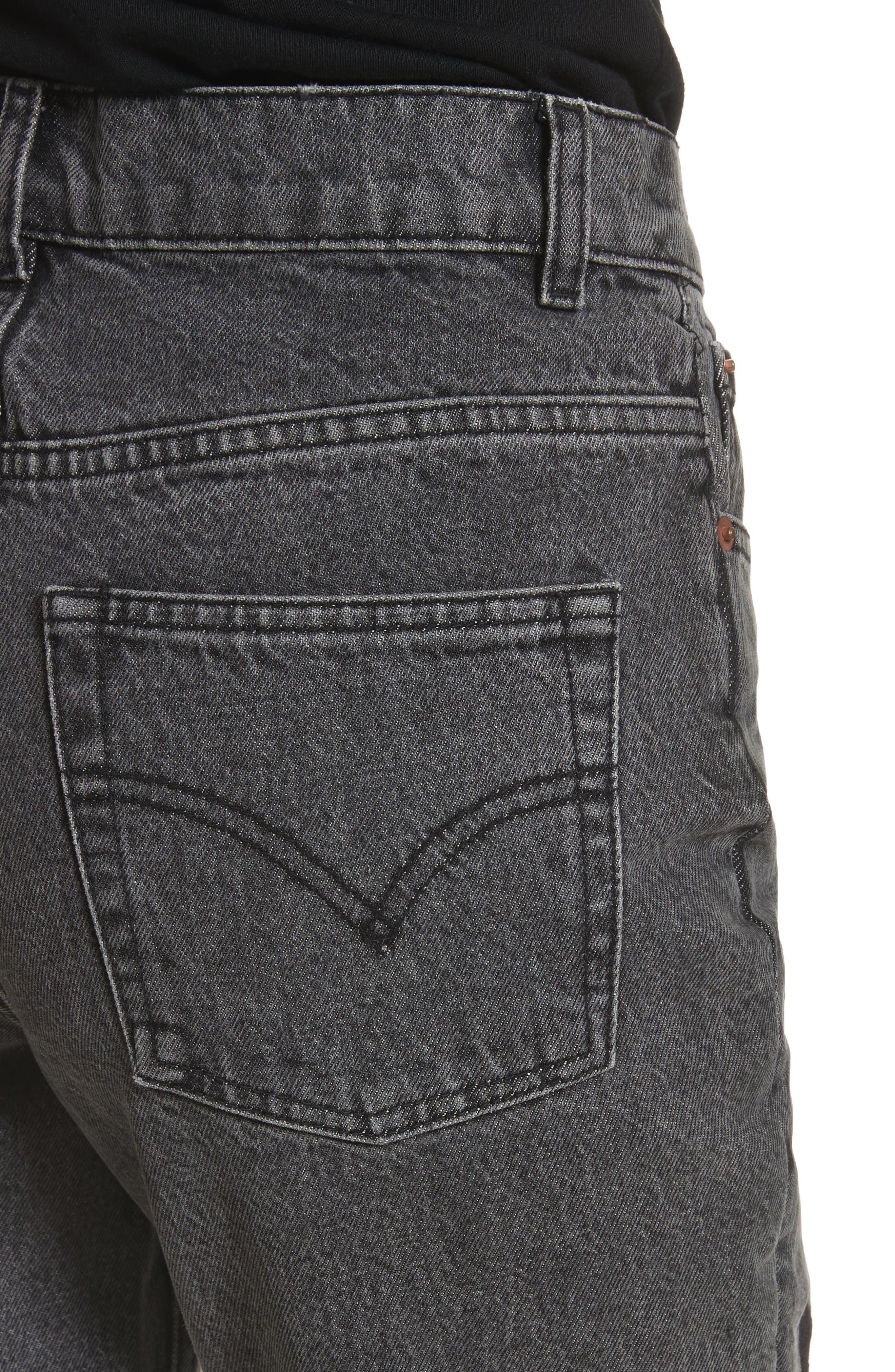 Alternate Image 5  - Ashley Williams Dog Embroidered Jeans (Grey)