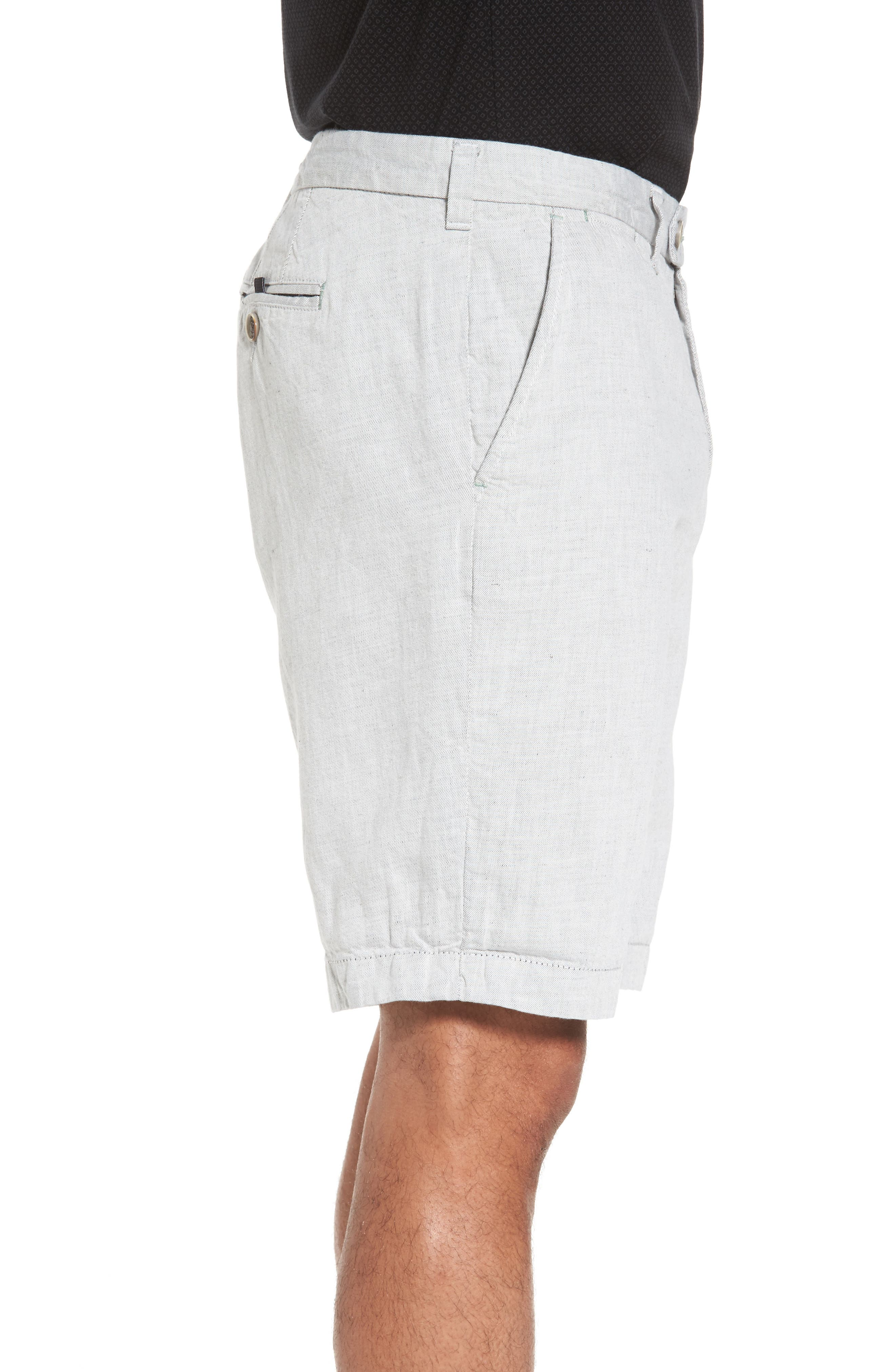 Frisho Cuff Denim Shorts,                             Alternate thumbnail 3, color,                             Light Grey