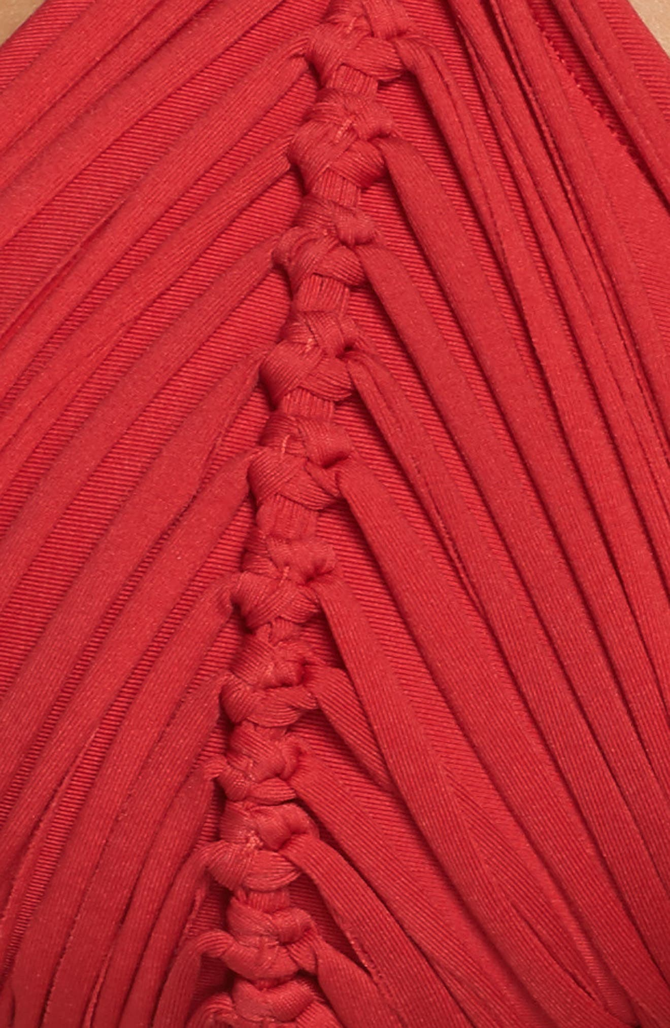 Isla Macramé Bikini Top,                             Alternate thumbnail 5, color,                             Rouge