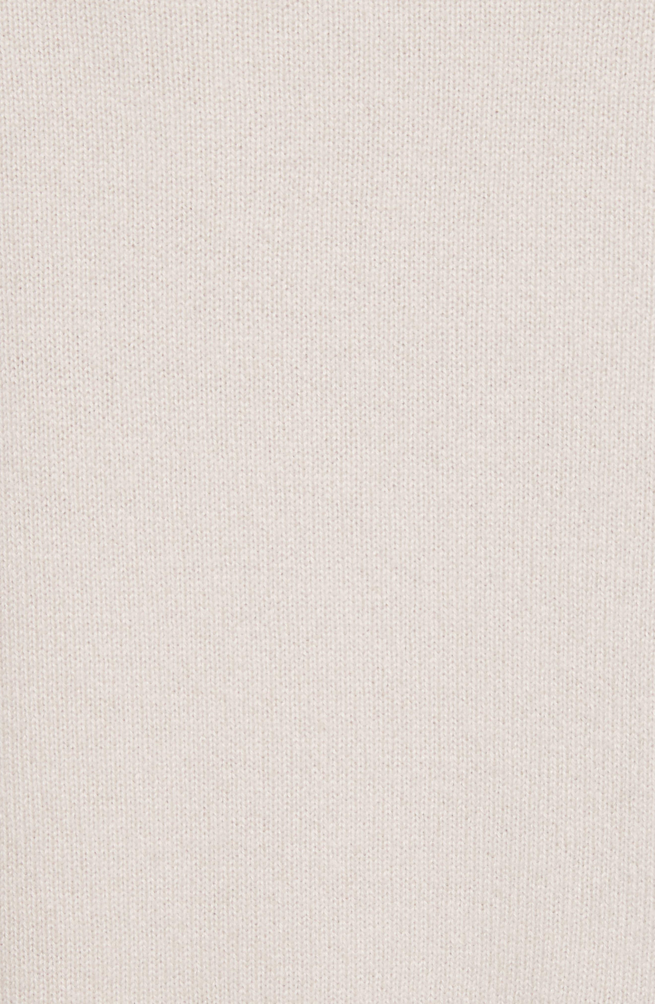 Deep V-Neck Cashmere Sweater,                             Alternate thumbnail 7, color,                             Linen
