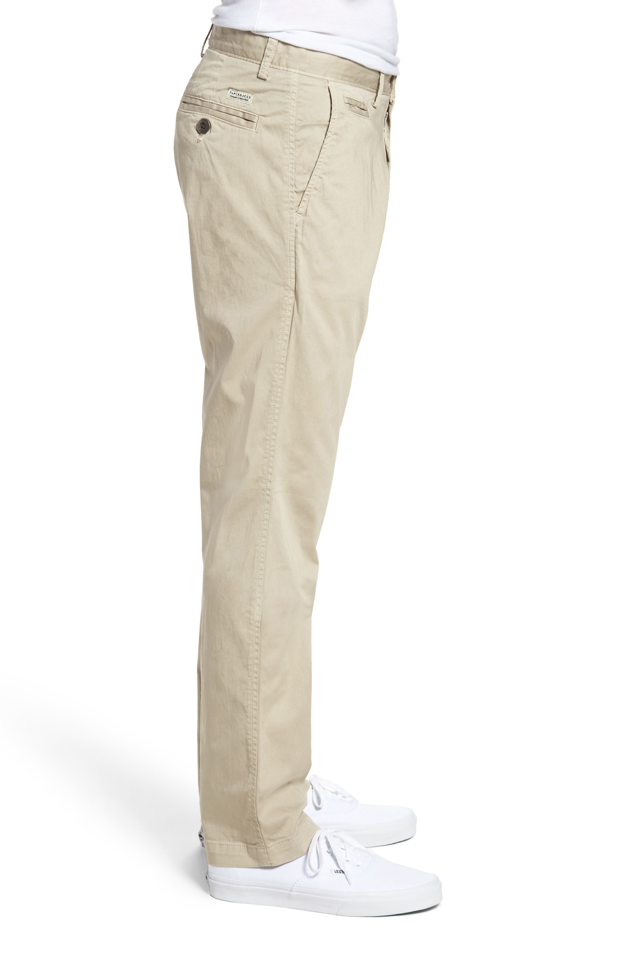Alternate Image 3  - Original Paperbacks Belmont Stretch Chino Pants