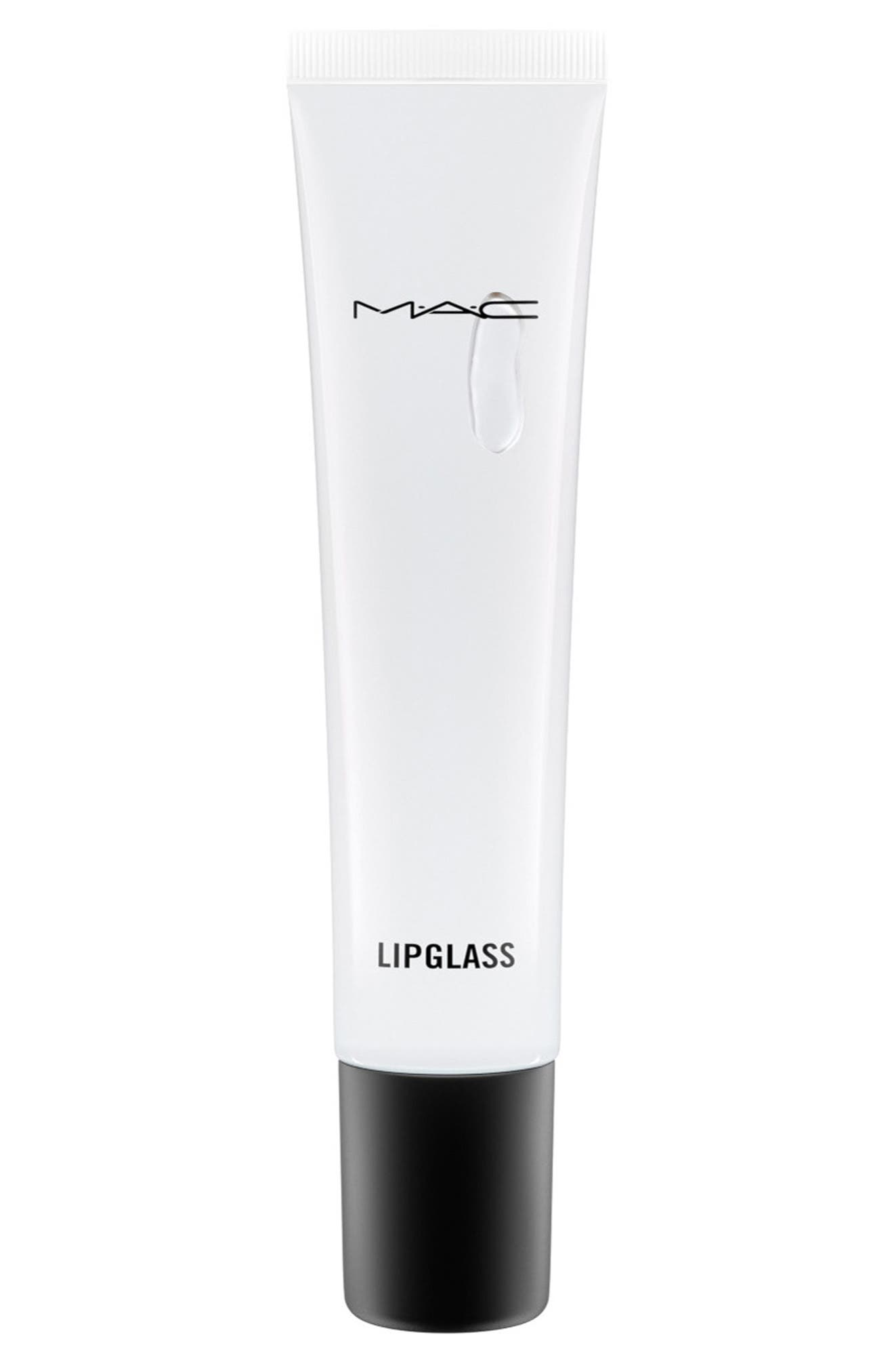 MAC Clear Lipglass,                             Main thumbnail 1, color,                             Clear