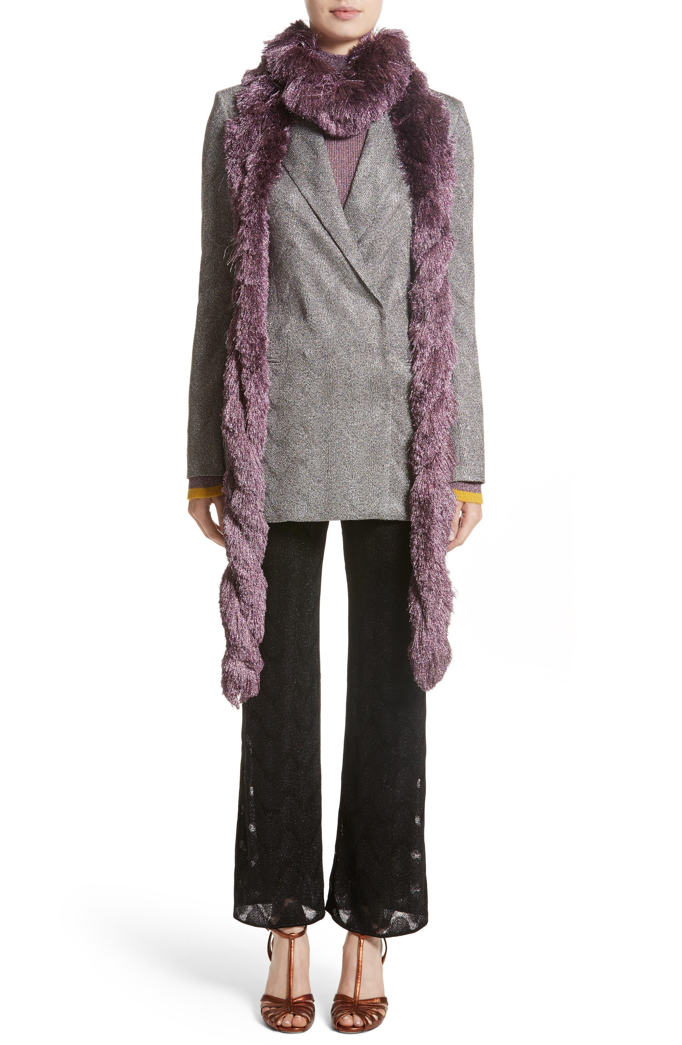 Alternate Image 8  - Missoni Metallic Knit Double Breasted Jacket
