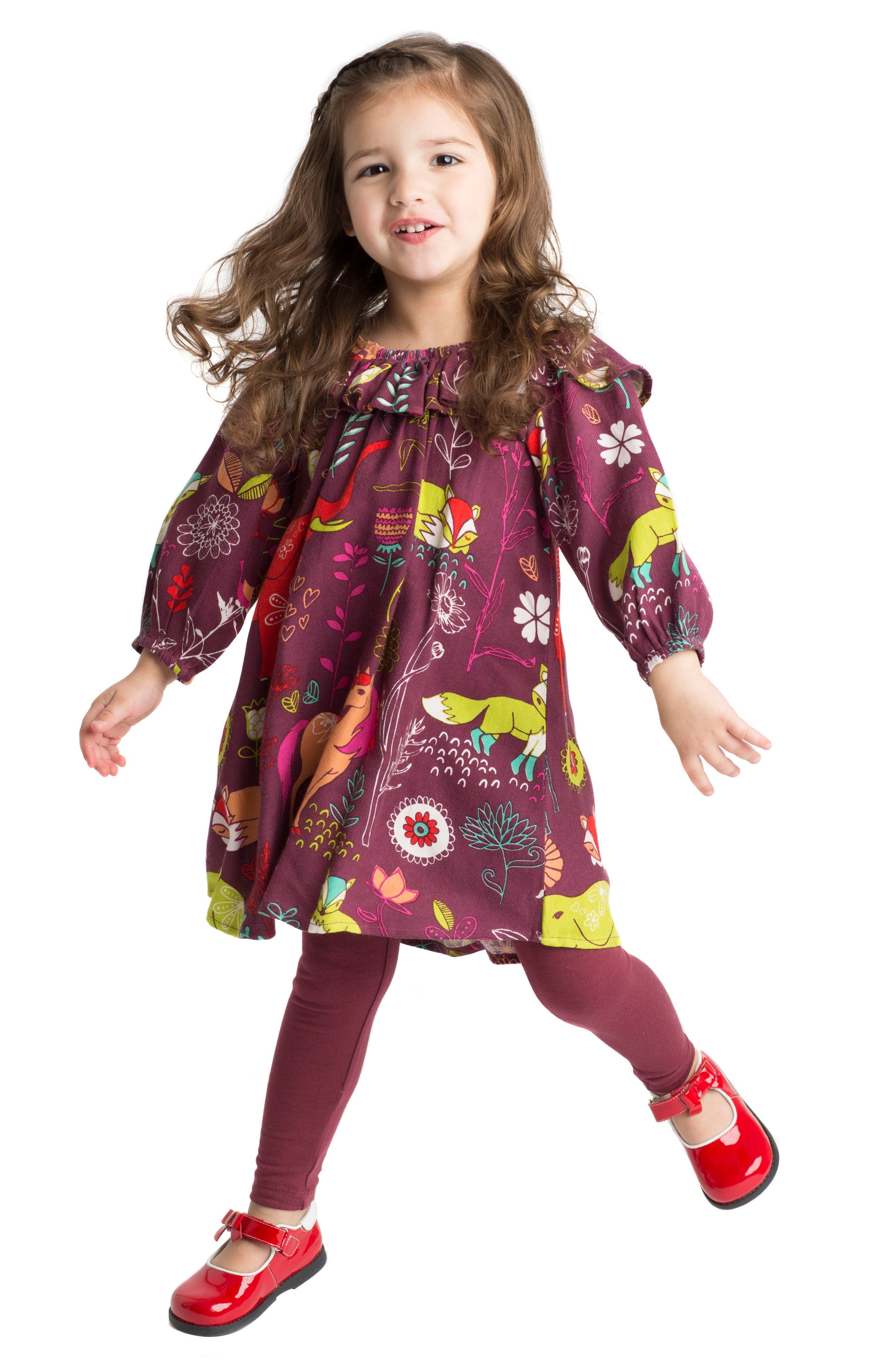 Alternate Image 4  - Masasla Baby Anais Magical Forest Dress (Baby Girls)