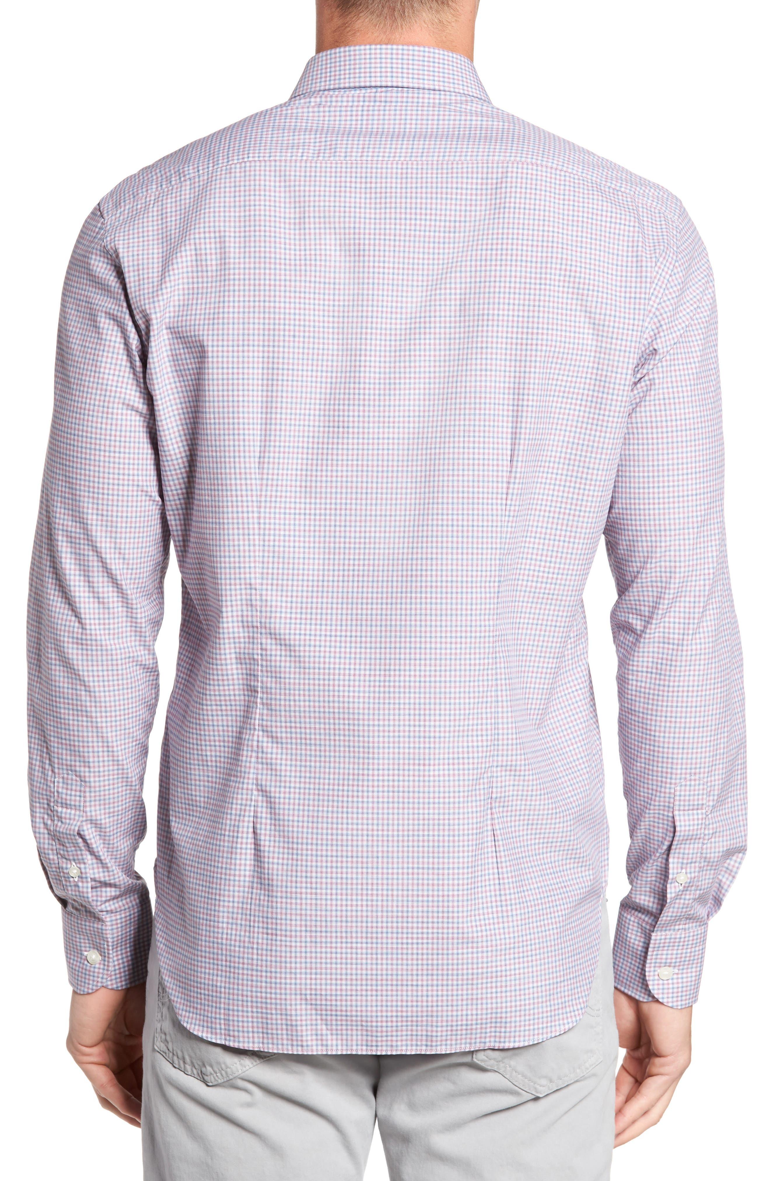 Alternate Image 2  - Culturata Trim Fit Mini Plaid Sport Shirt