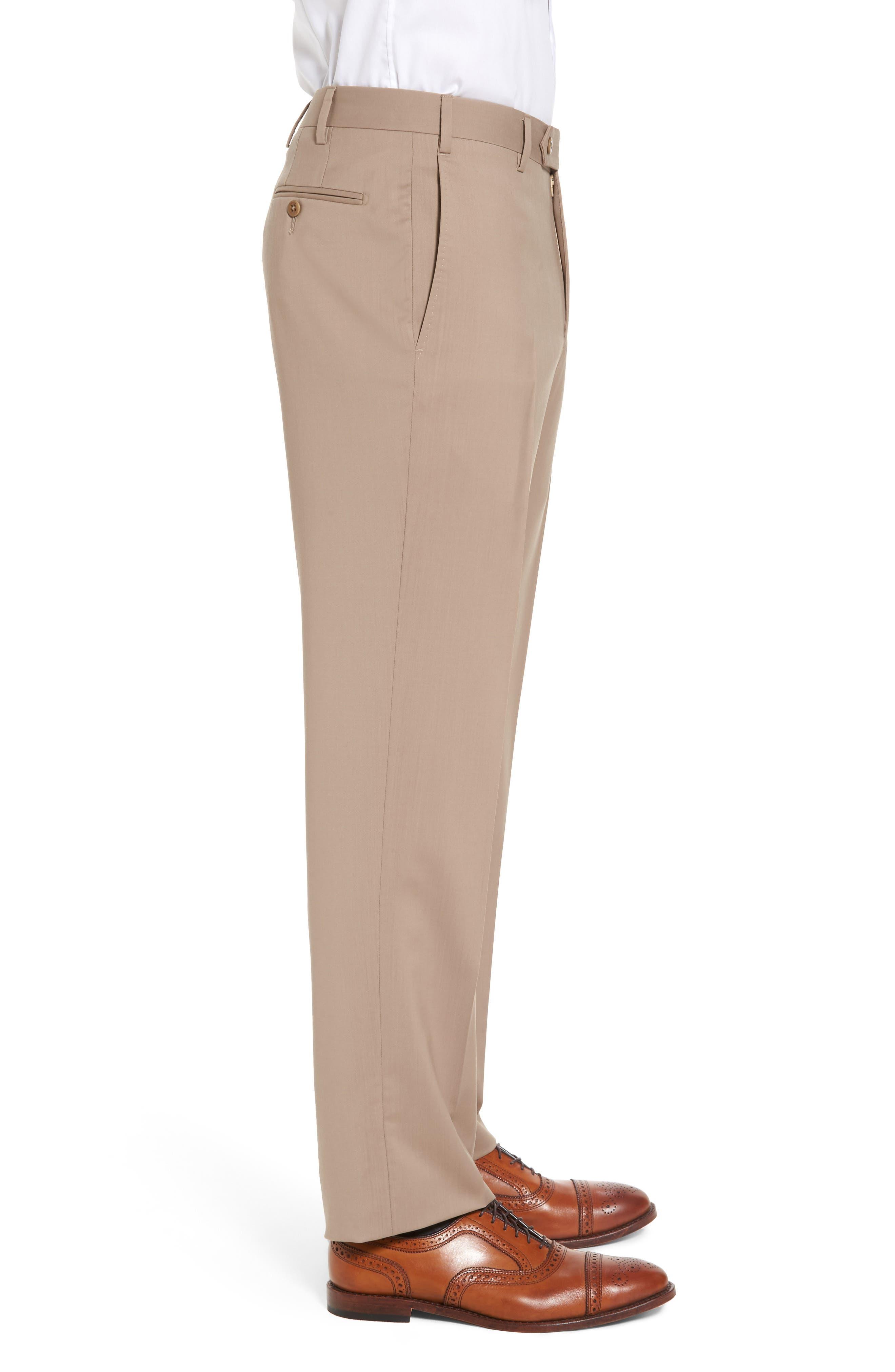 Alternate Image 3  - Zanella Devon Flat Front Solid Wool Trousers
