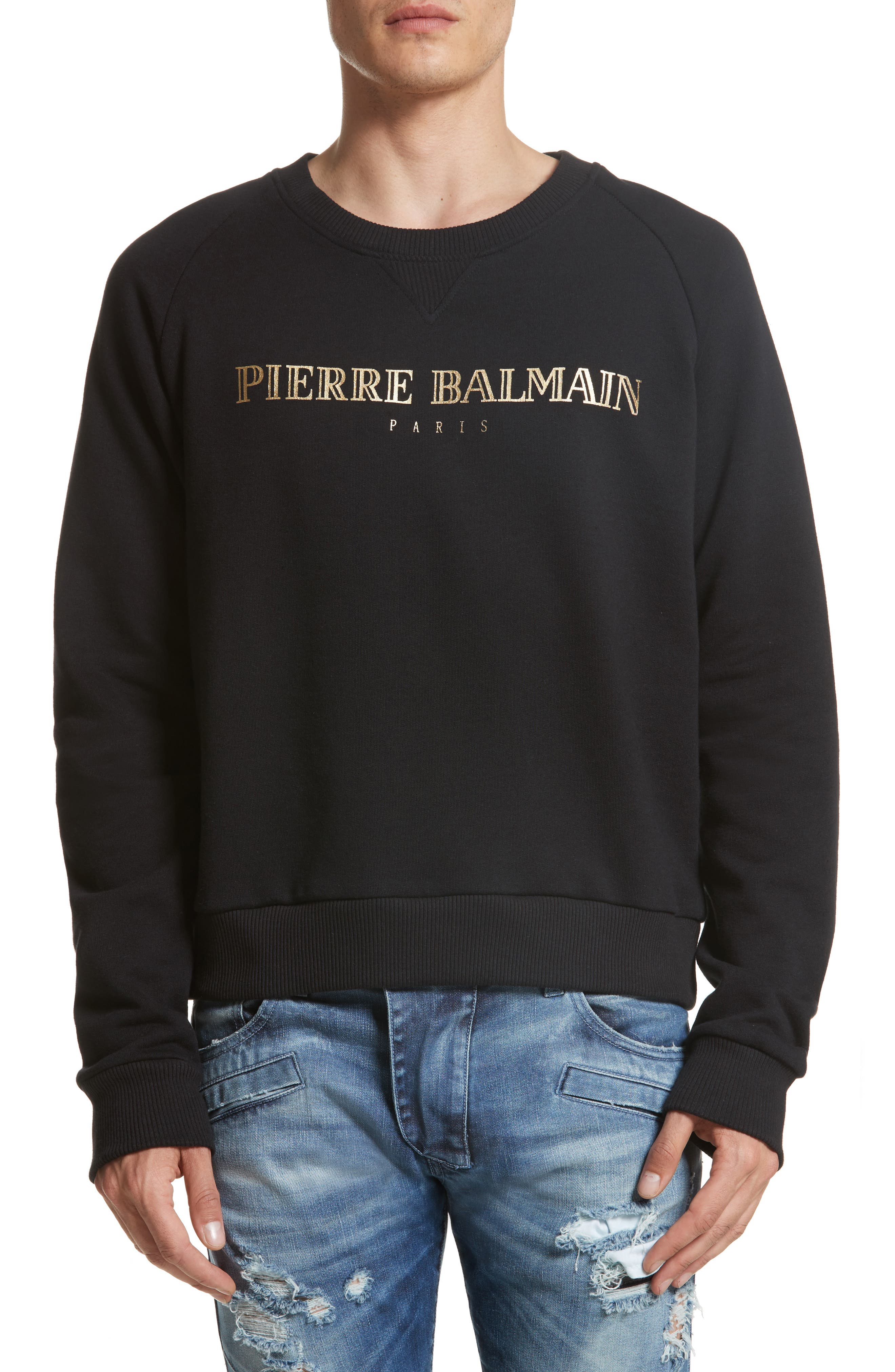 Alternate Image 1 Selected - Pierre Balmain Logo Graphic Sweatshirt