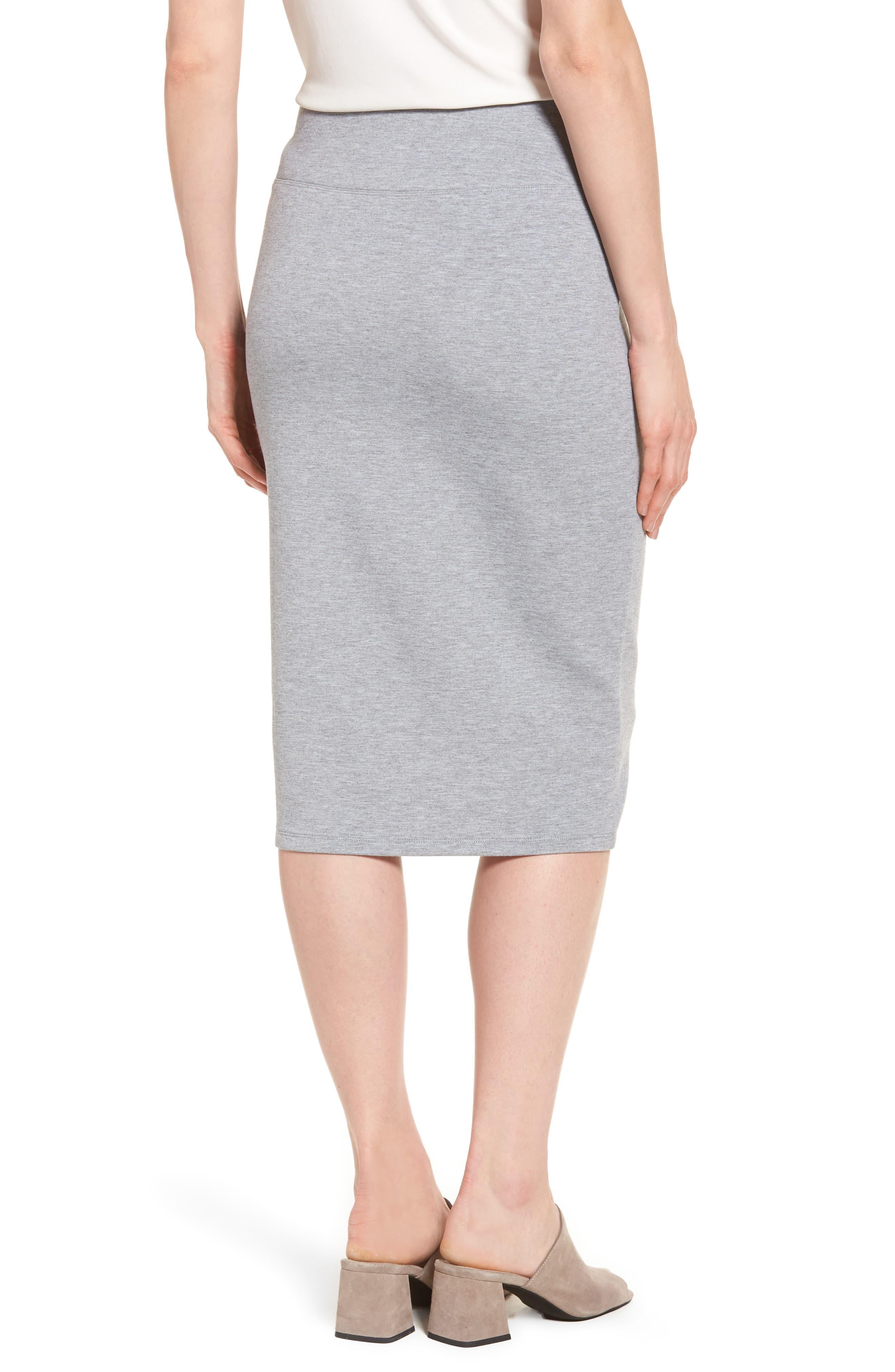 Alternate Image 2  - Halogen® Neoprene Knit Pencil Skirt (Regular & Petite)