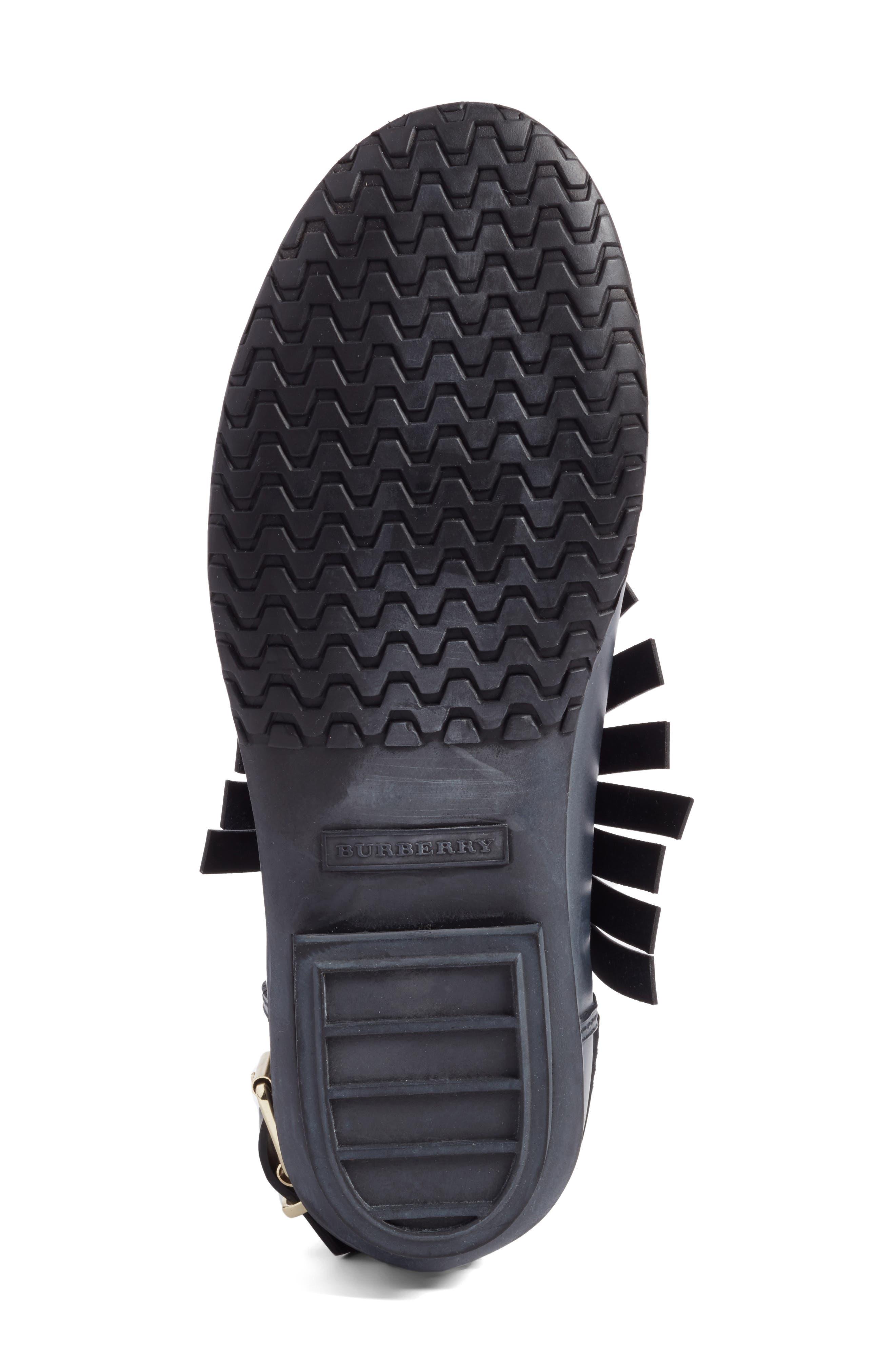 Alternate Image 6  - Burberry Fringe Short Rain Bootie (Women)