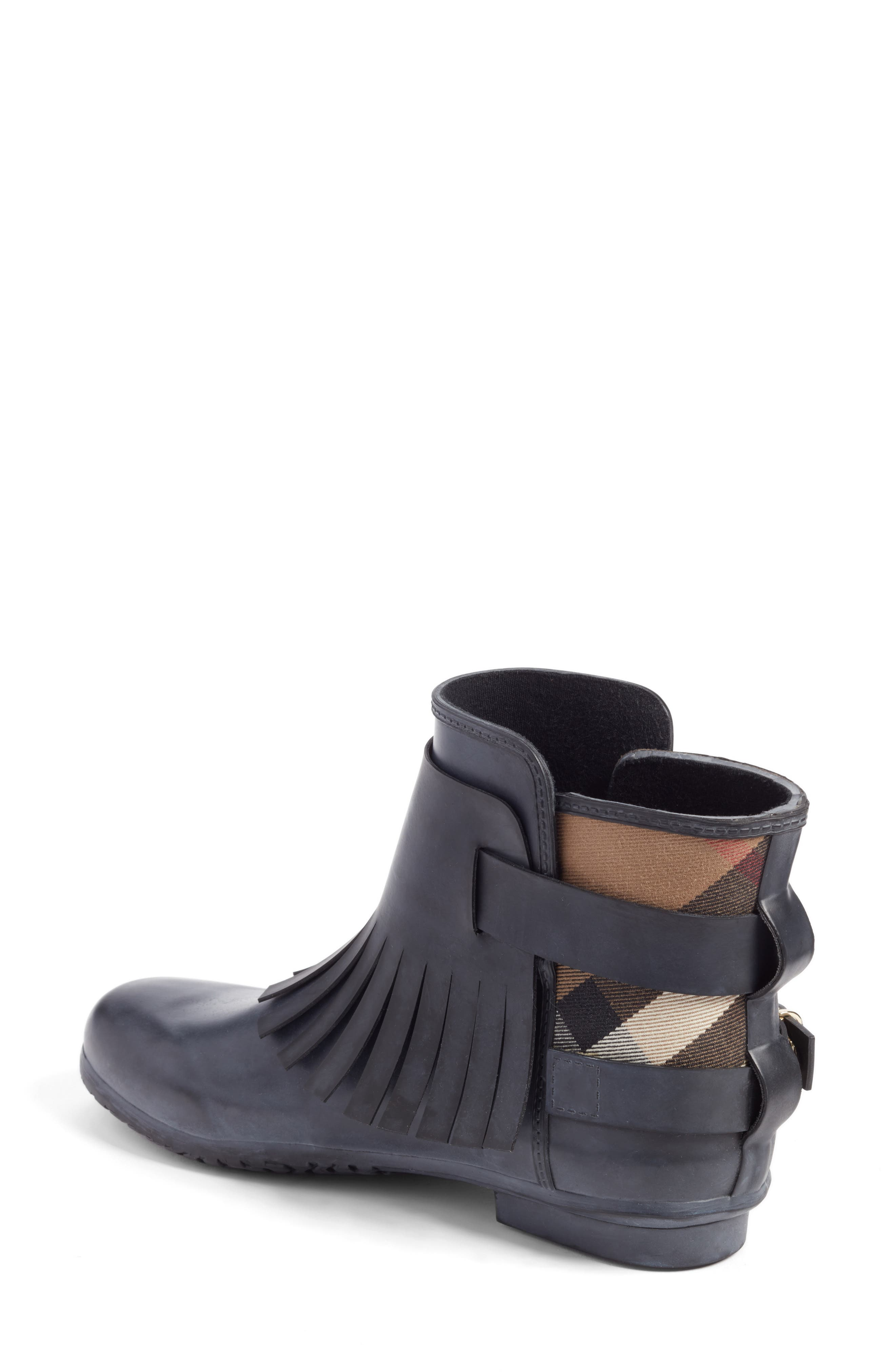 Alternate Image 2  - Burberry Fringe Short Rain Bootie (Women)