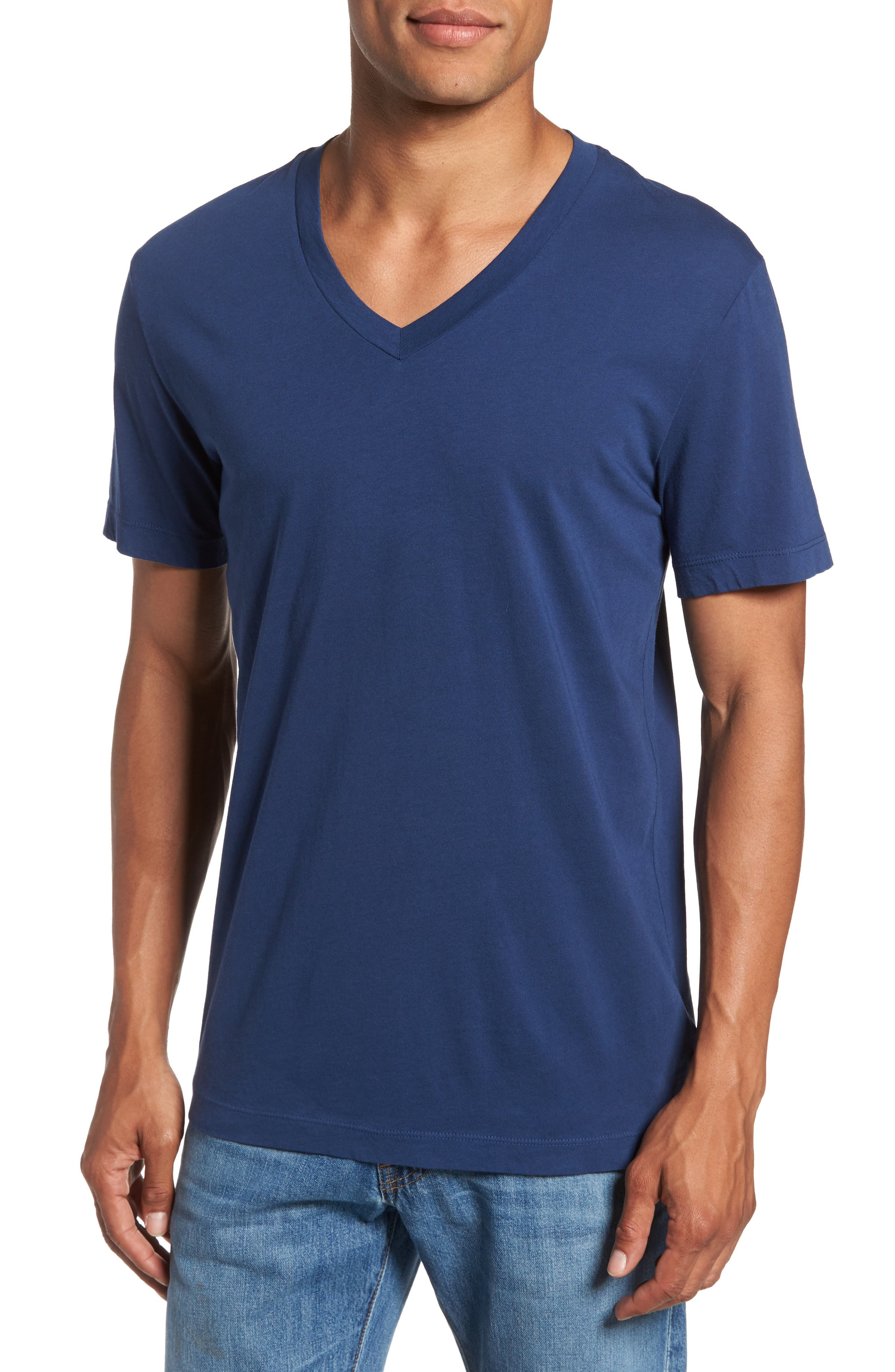 Alternate Image 1 Selected - James Perse Short Sleeve V-Neck T-Shirt