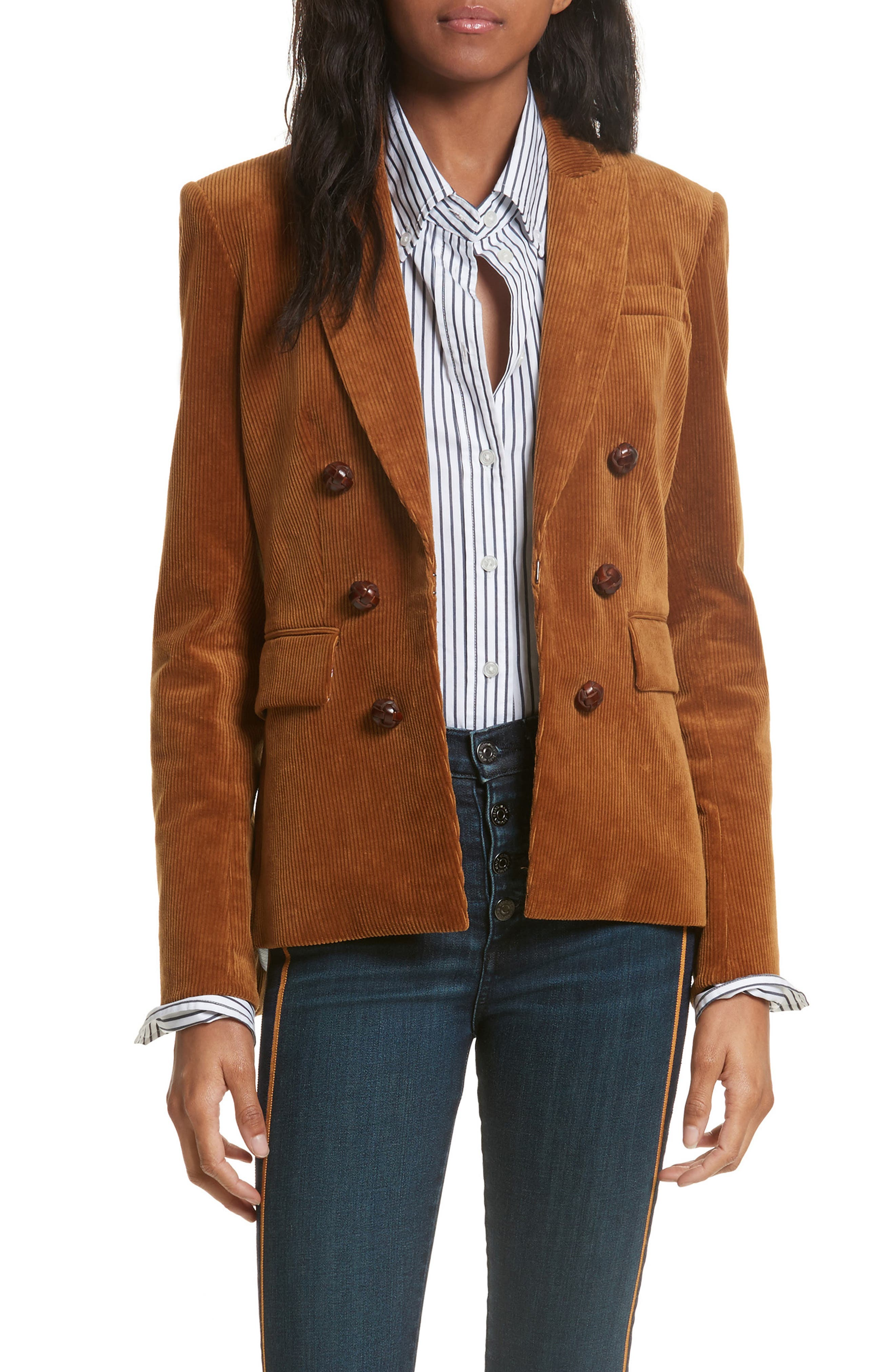 Alternate Image 1 Selected - Veronica Beard Cliff Corduroy Cutaway Jacket