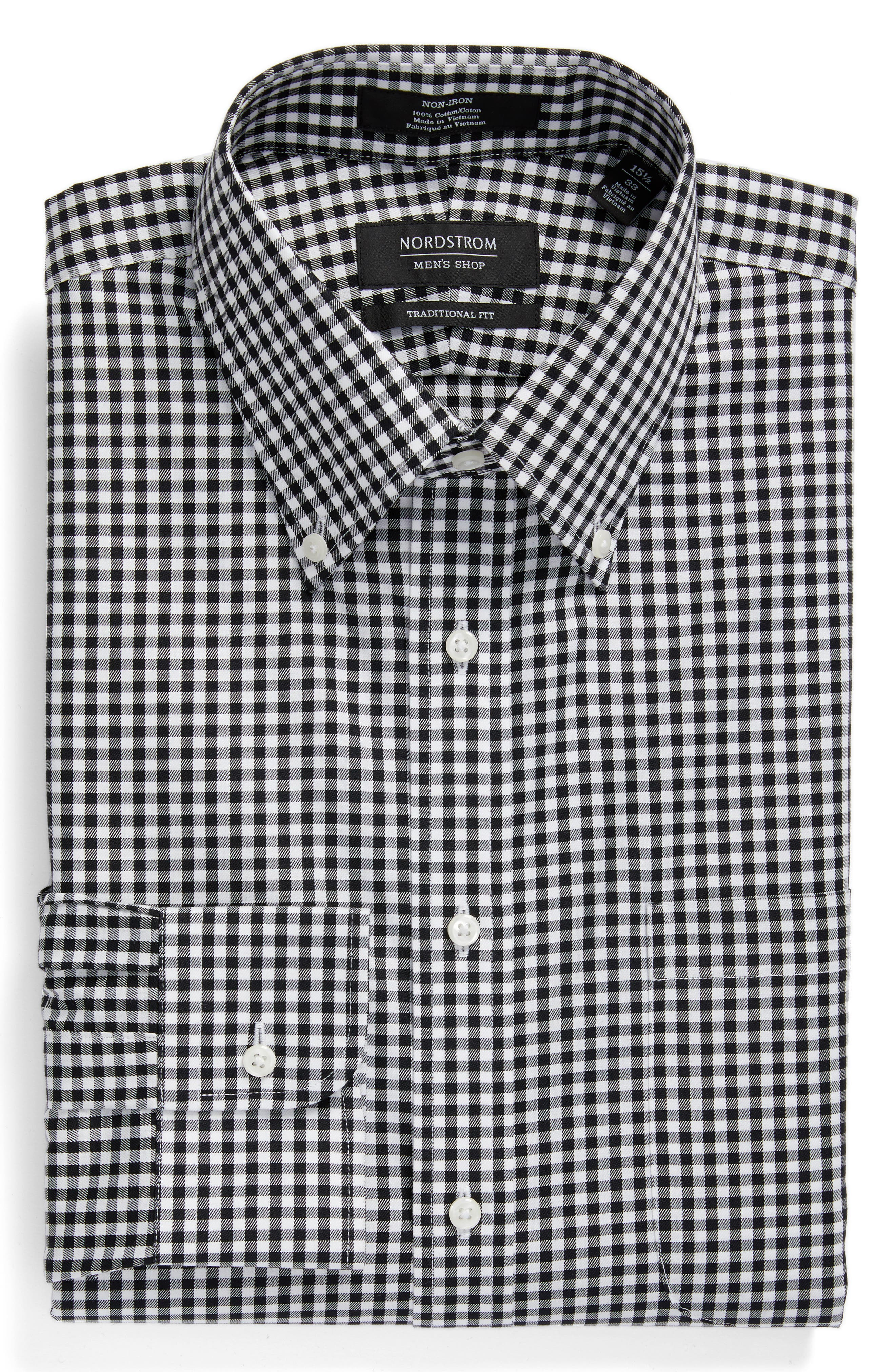 Men's Black Button-Down Collar Dress Shirts | Nordstrom