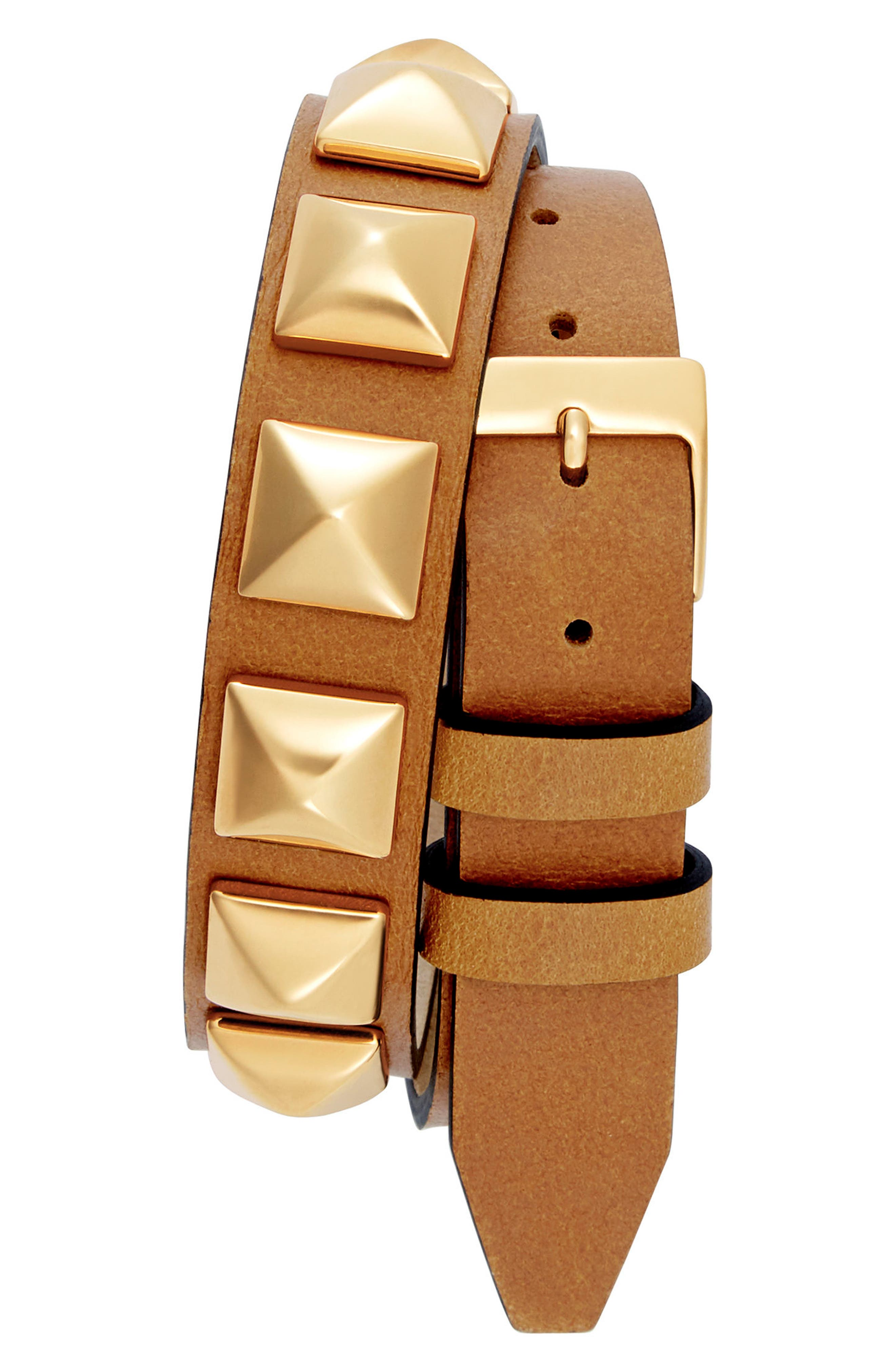 Alternate Image 2  - Rebecca Minkoff Wrap Leather Strap Watch, 19mm x 30mm