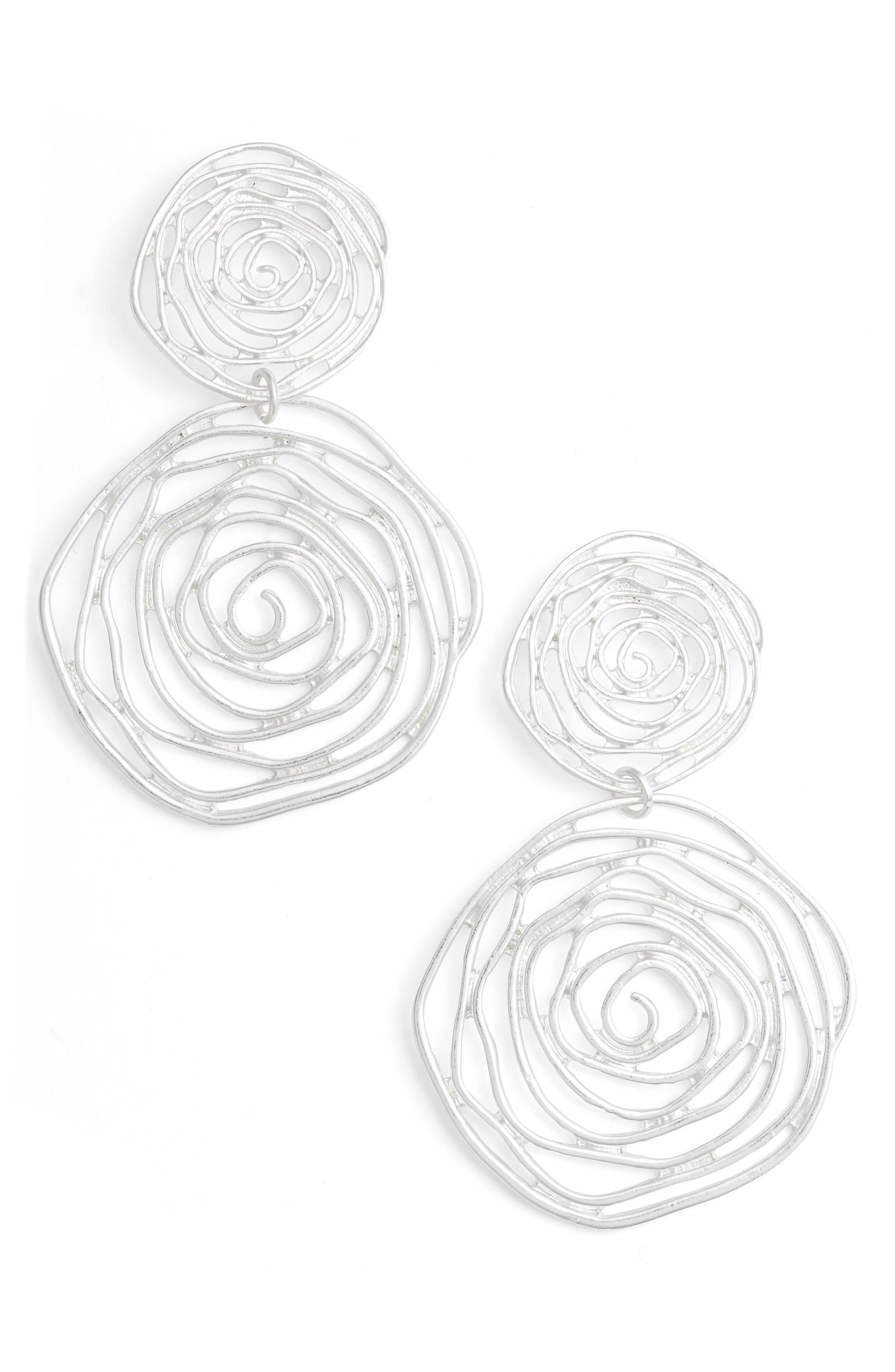 Drop Earings,                         Main,                         color, Silver