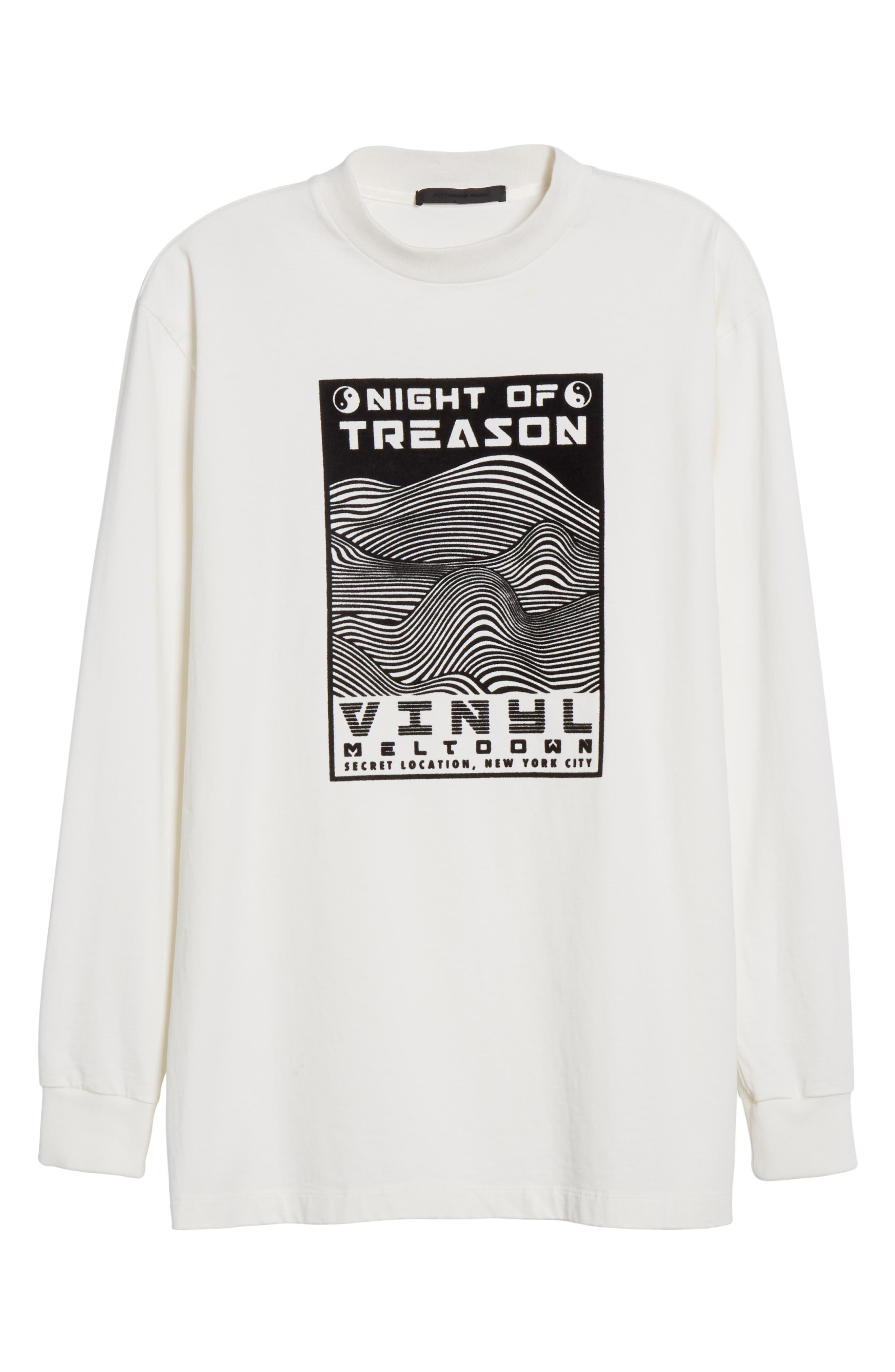 Flocked Graphic Sweatshirt,                             Alternate thumbnail 7, color,                             White