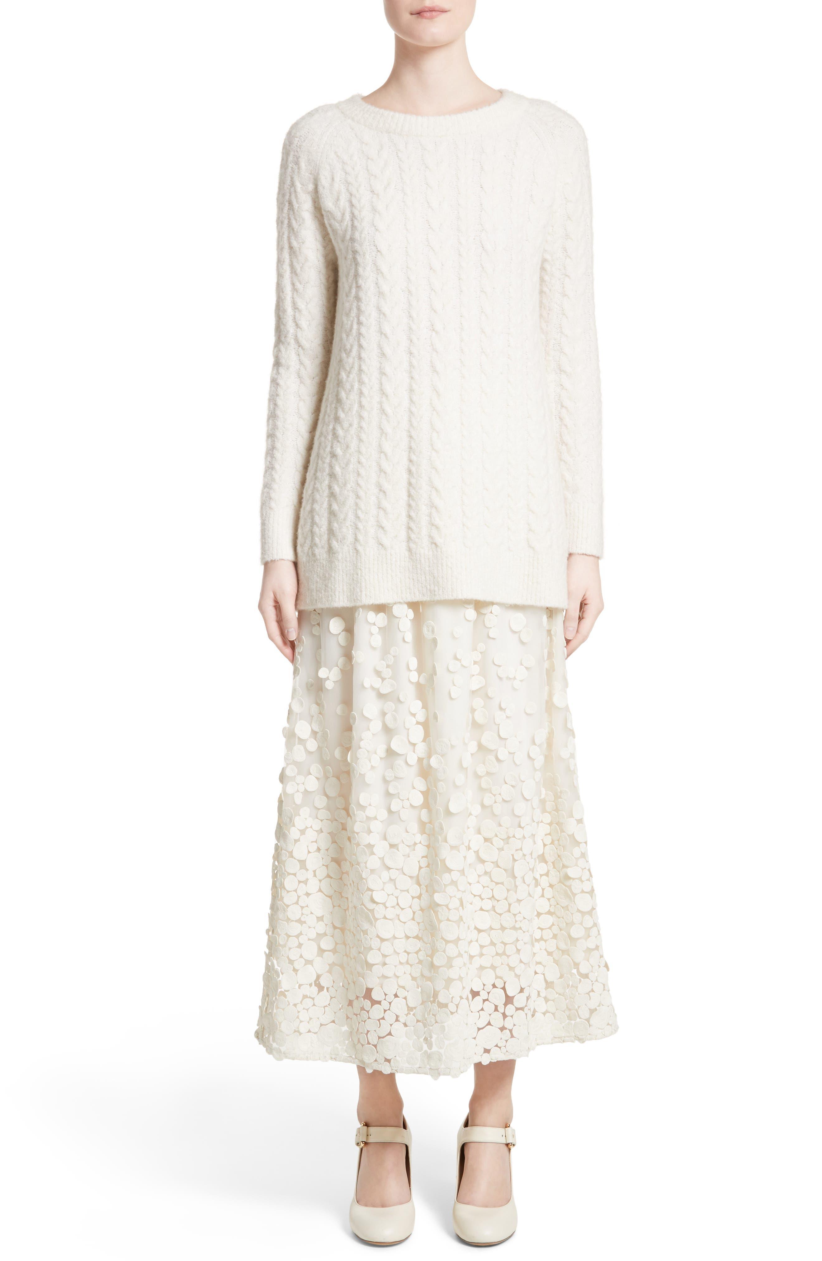 Alternate Image 8  - Co Pebbles Embroidered Mesh Midi Skirt